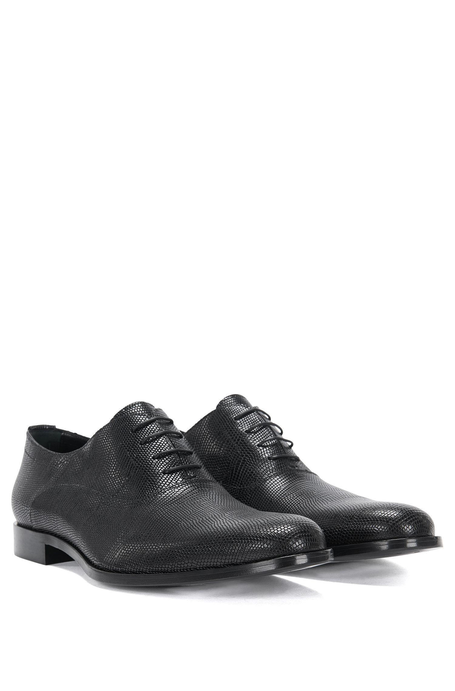 Chaussures à lacets en cuir à motif gravé intégral: «Sigma_Oxfr_exo»