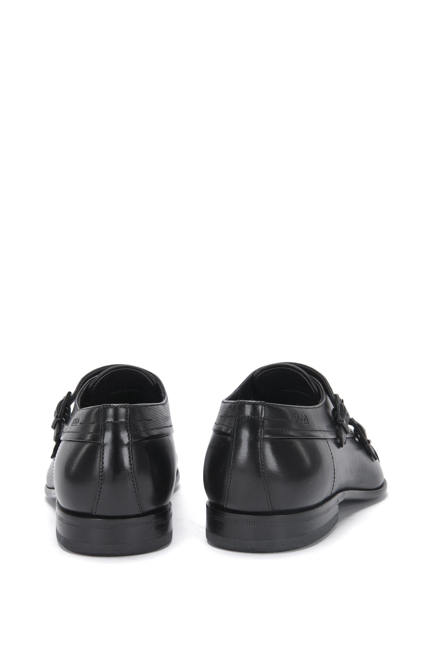 Double Monks aus Leder mit Struktur-Muster: 'Dressapp_Monk_mxprpf'