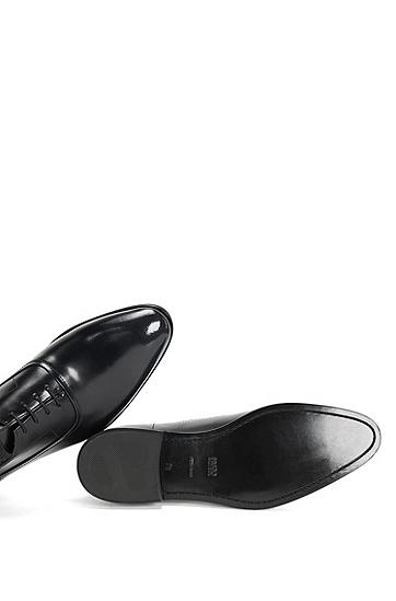 Schnürschuhe aus Leder mit flexibler Innensohle: 'Dressapp_Oxfr_bo', Schwarz