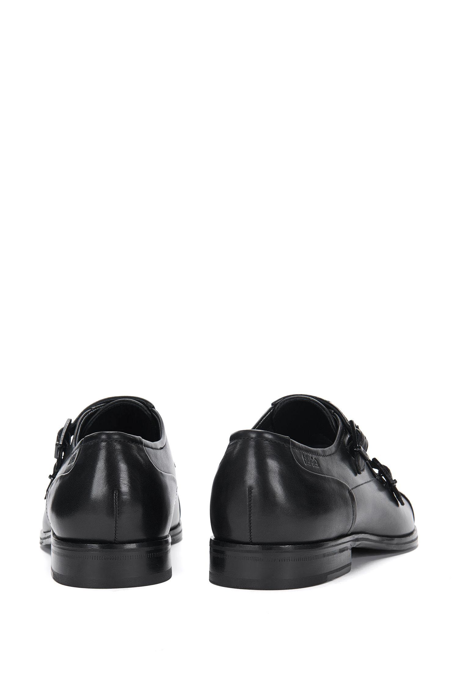 Chaussures à double boucle en cuir au design contrasté sur le devant: «Tempt_Monk_ctlt»