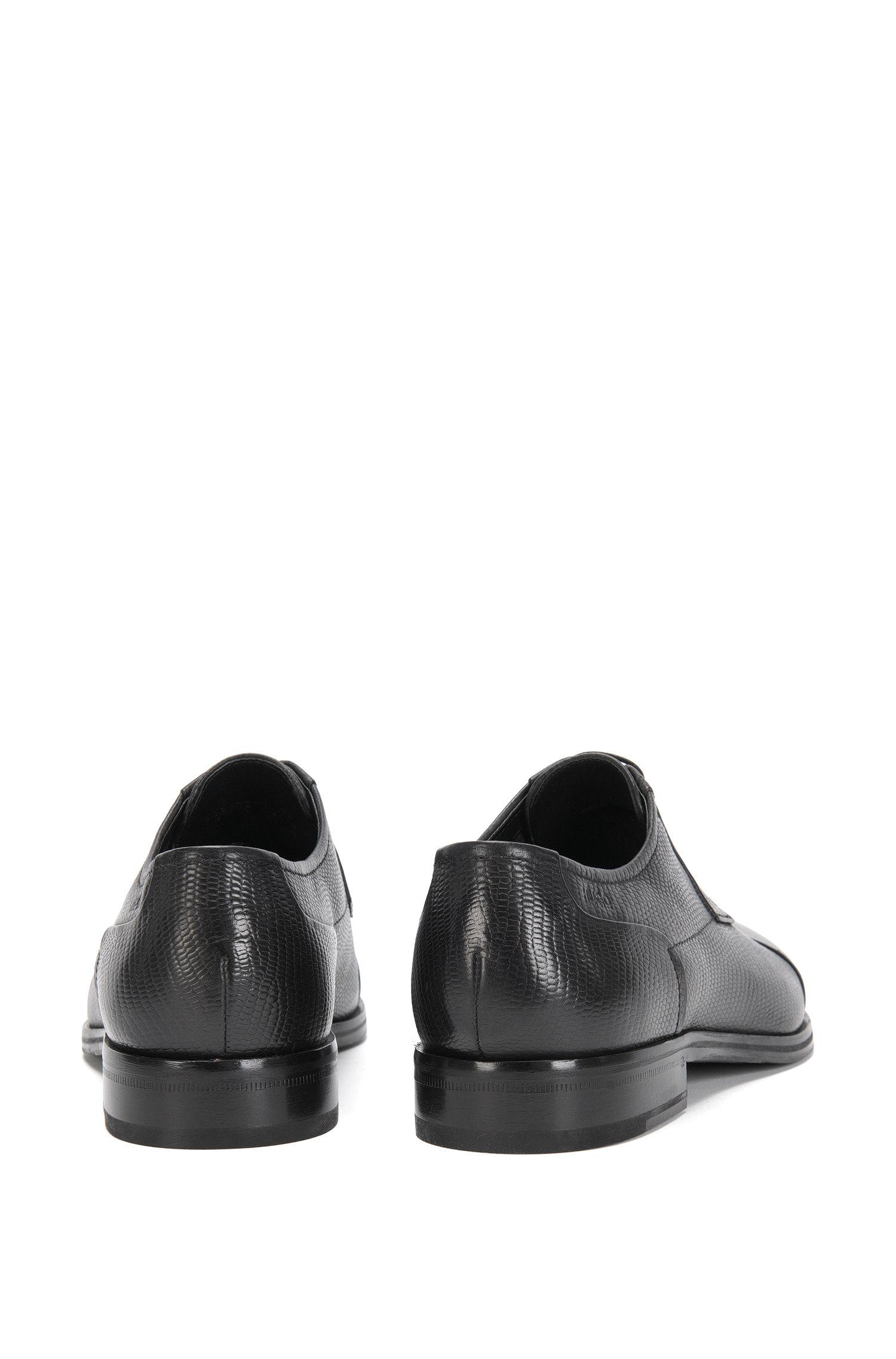 Chaussures à lacets en cuir gravé dotées d'une semelle intérieure flexible: «Tempt_Derb_ctexo»