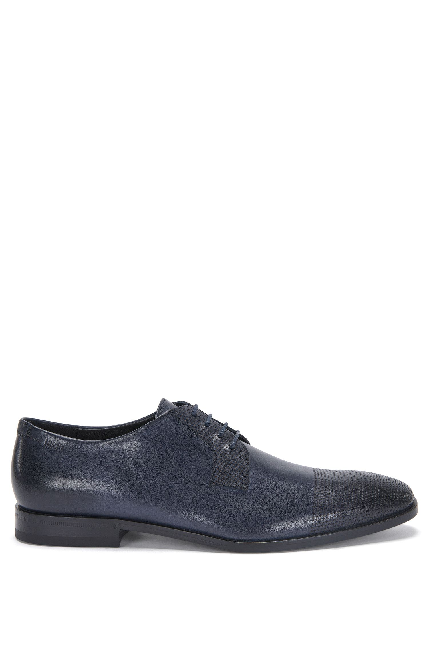 Leather lace-up shoes with lasered details: 'Square_Derb_lsps'