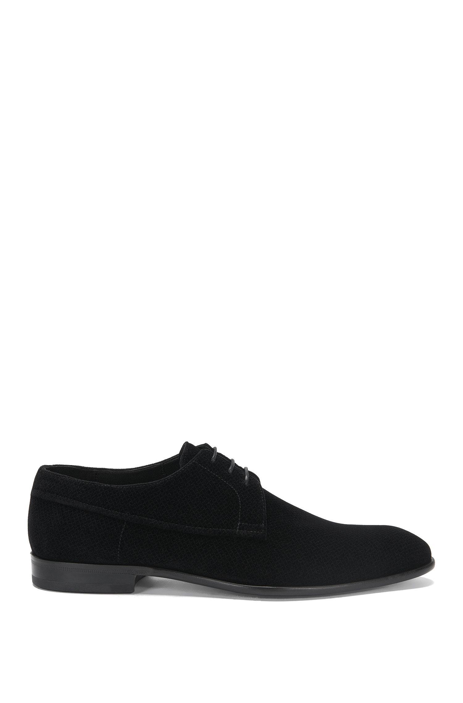 Derby-style velvet lace-up shoes: 'Dressapp_Derb_vlt'