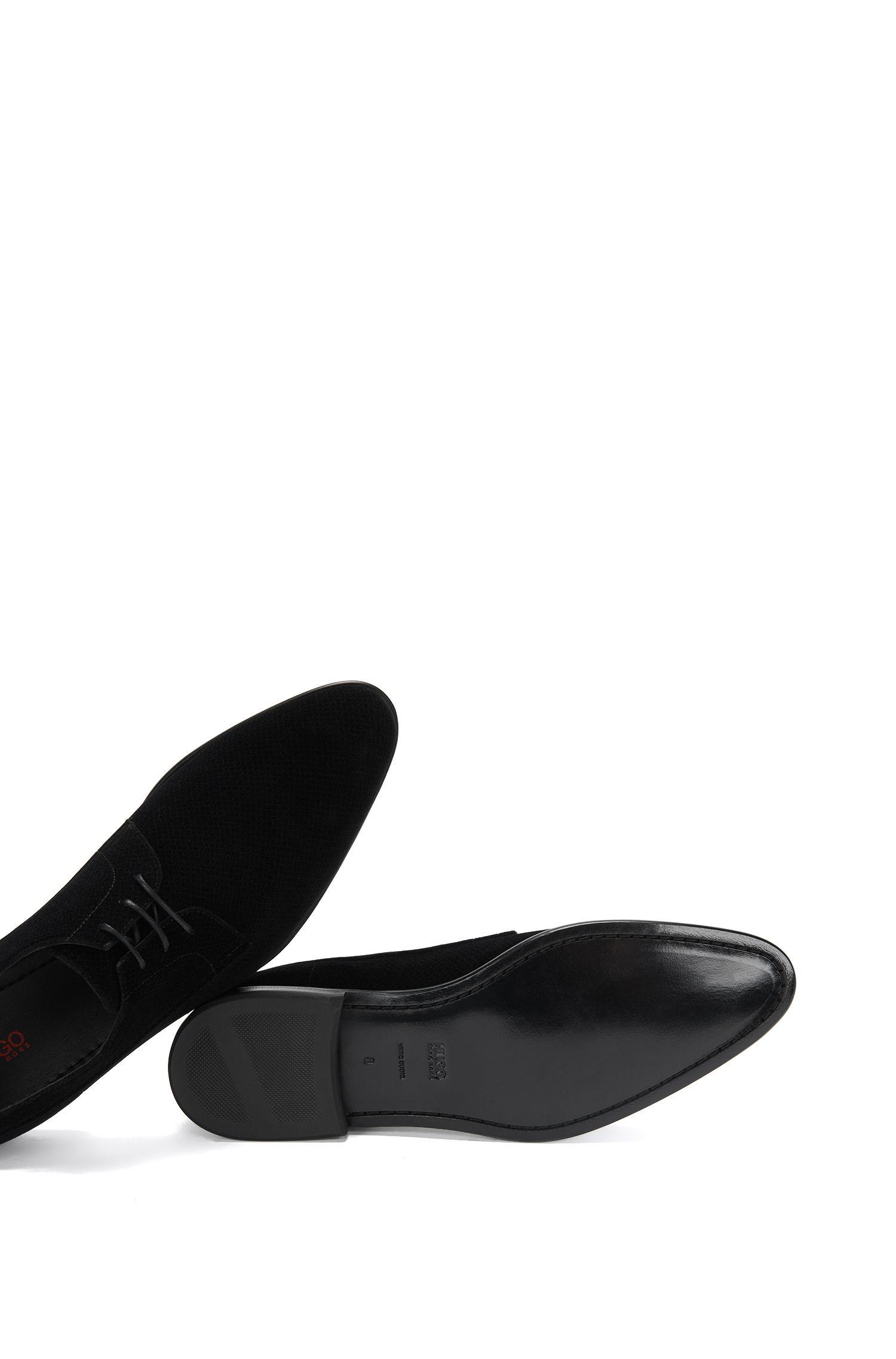 Schnürschuhe aus Samt im Derby-Stil: 'Dressapp_Derb_vlt'