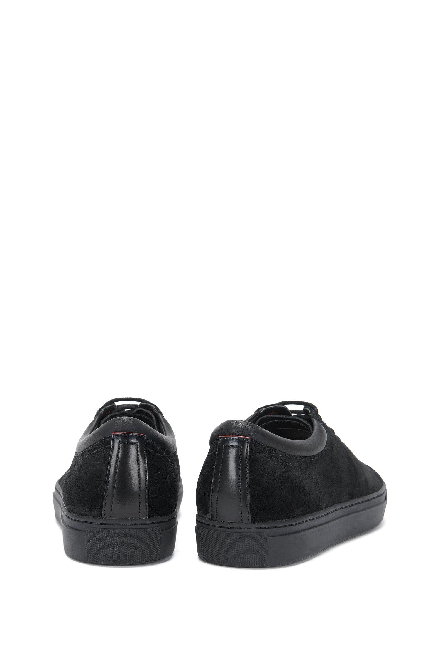 Sneakers van leer in een structuurmix: 'CasualFut_Tenn_sd'