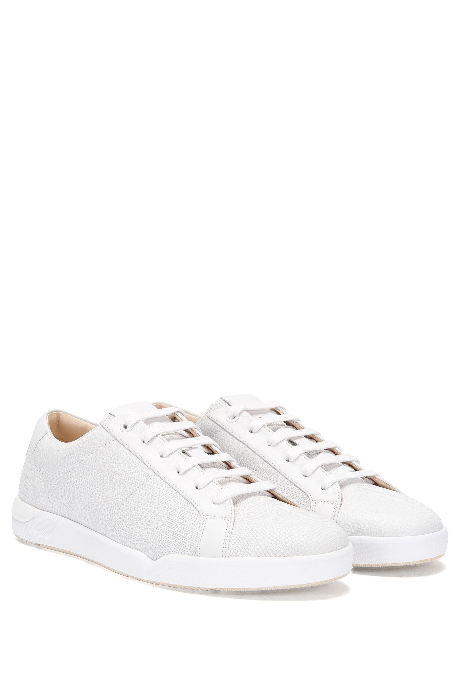 Sneakers aus Leder mit Allover-Prägung: 'Fusion_Tenn_Itexo'
