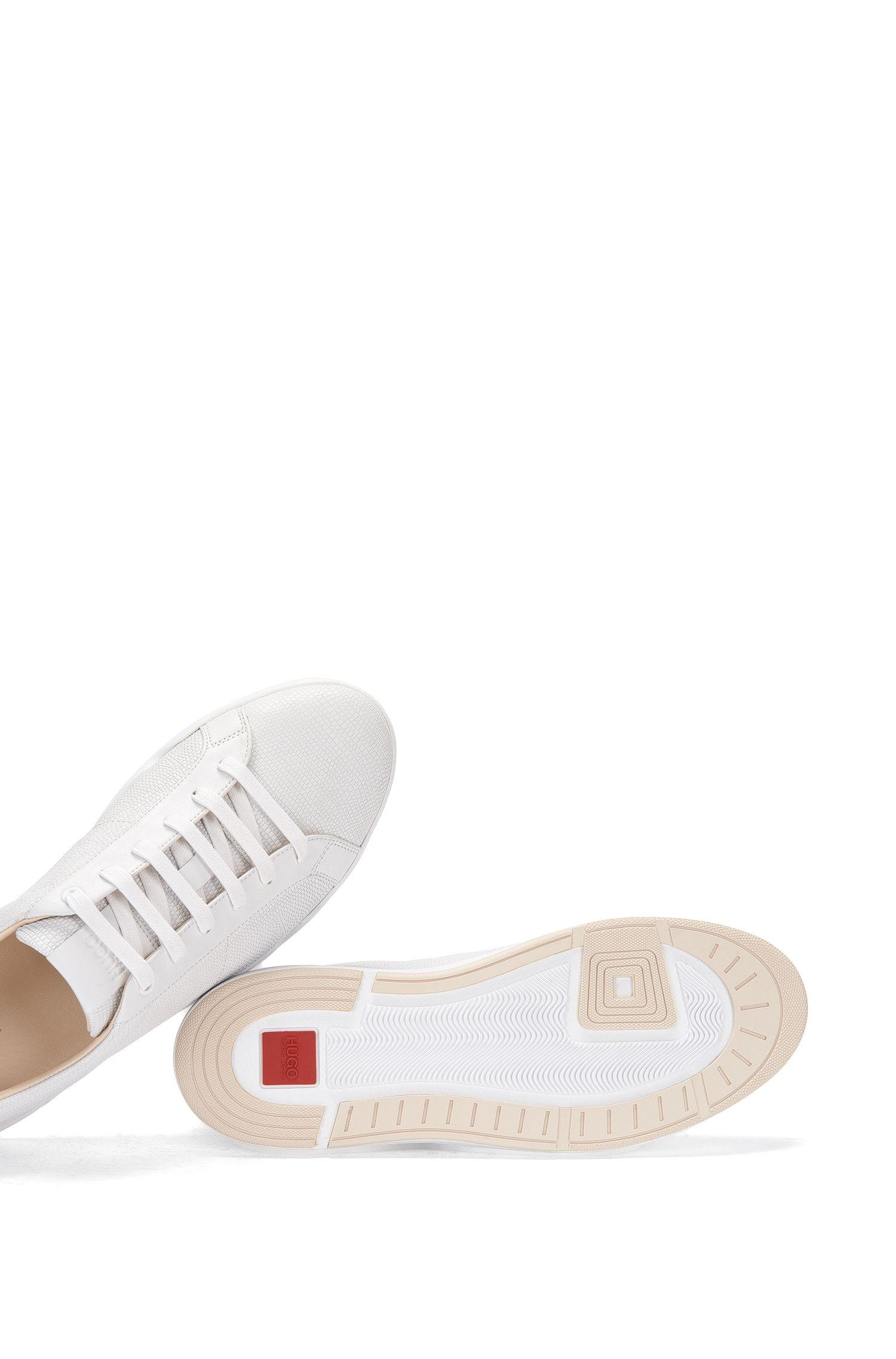 Leren sneakers met all-over-structuur: 'Fusion_Tenn_Itexo'