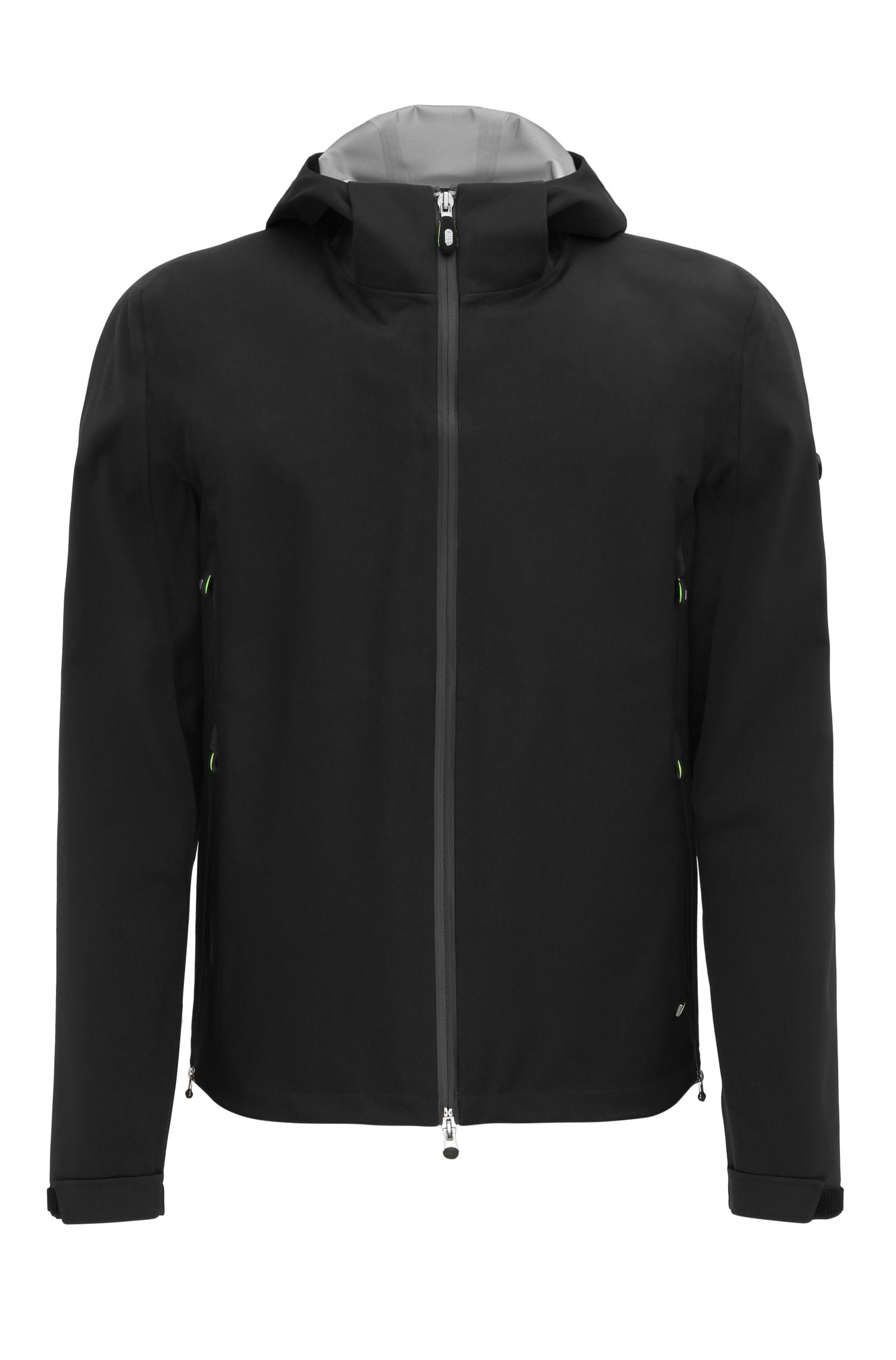 Regular-fit jacket in material blend with NFC logo: 'Japple'