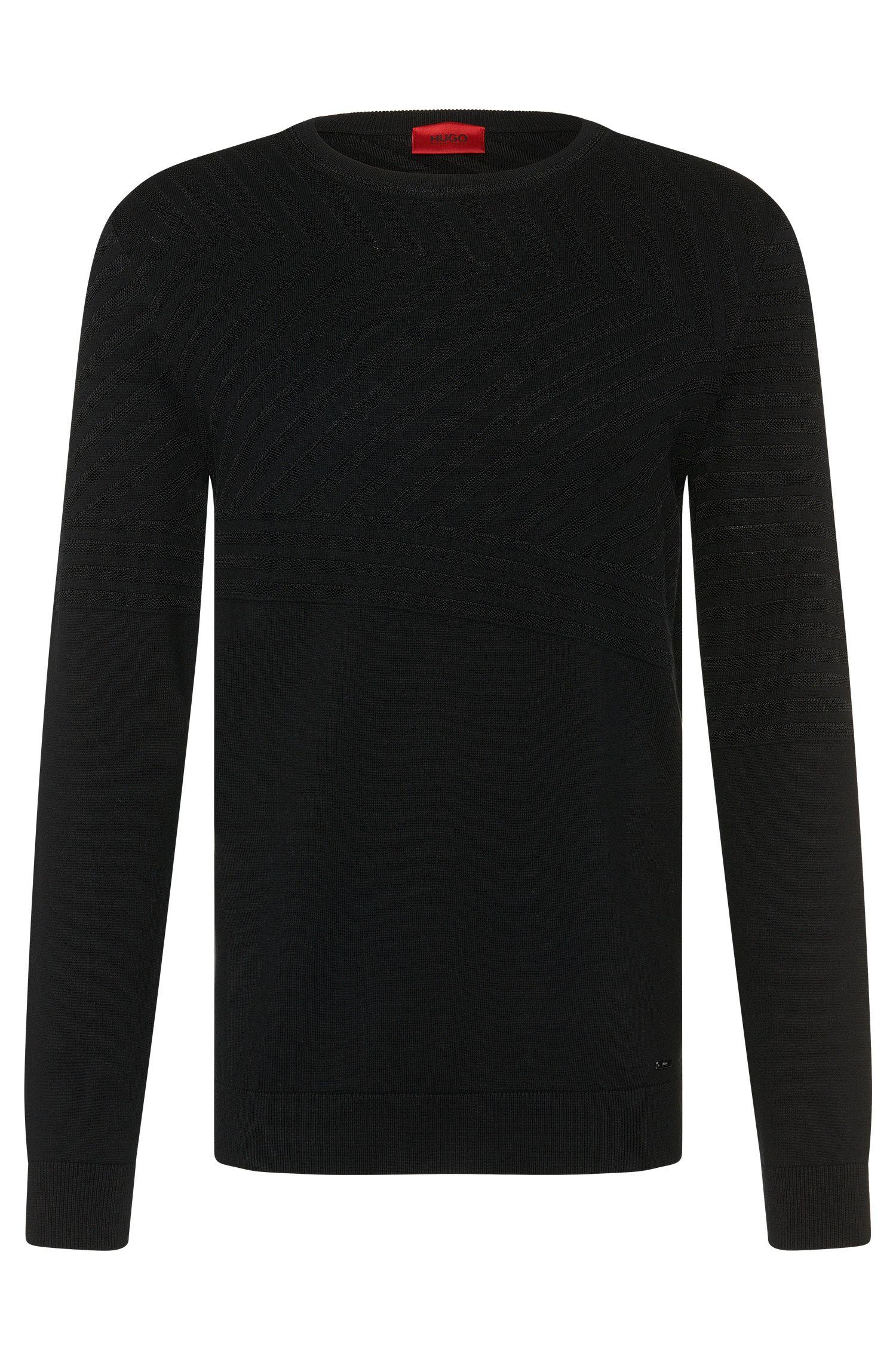 Loose-fit trui van een katoenmix met zijde en kasjmier: 'Sagano'