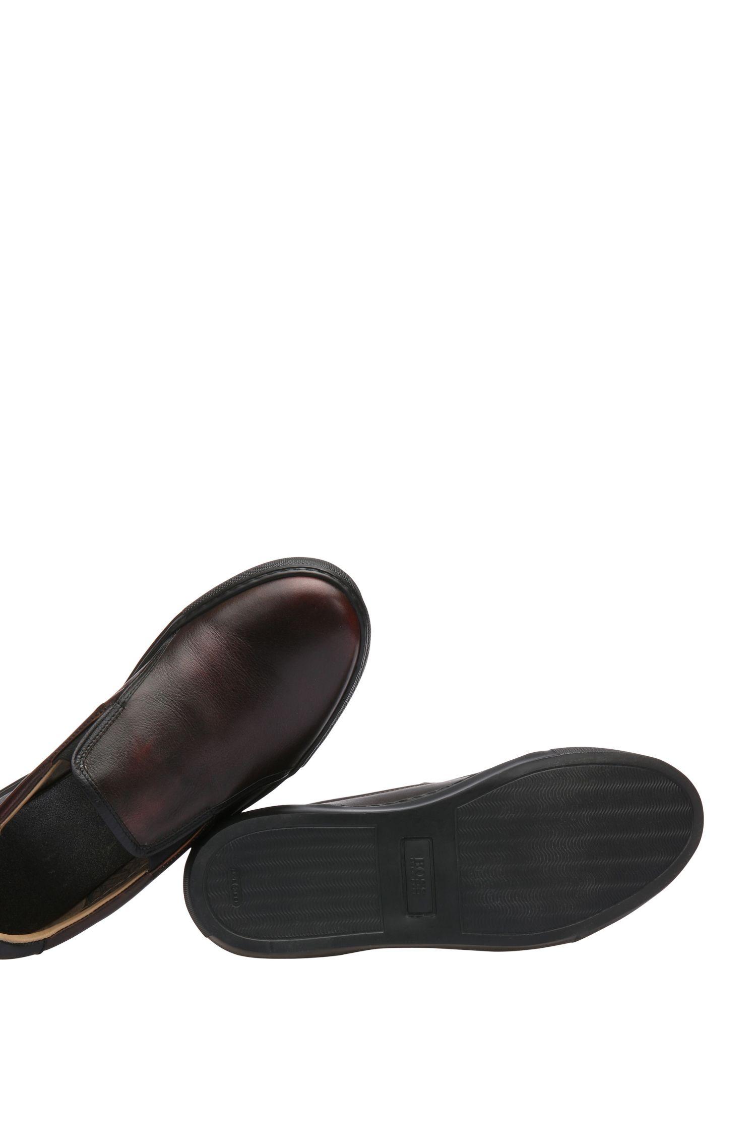 Chaussures slip-on en cuir: «Noir_Slon_bo»