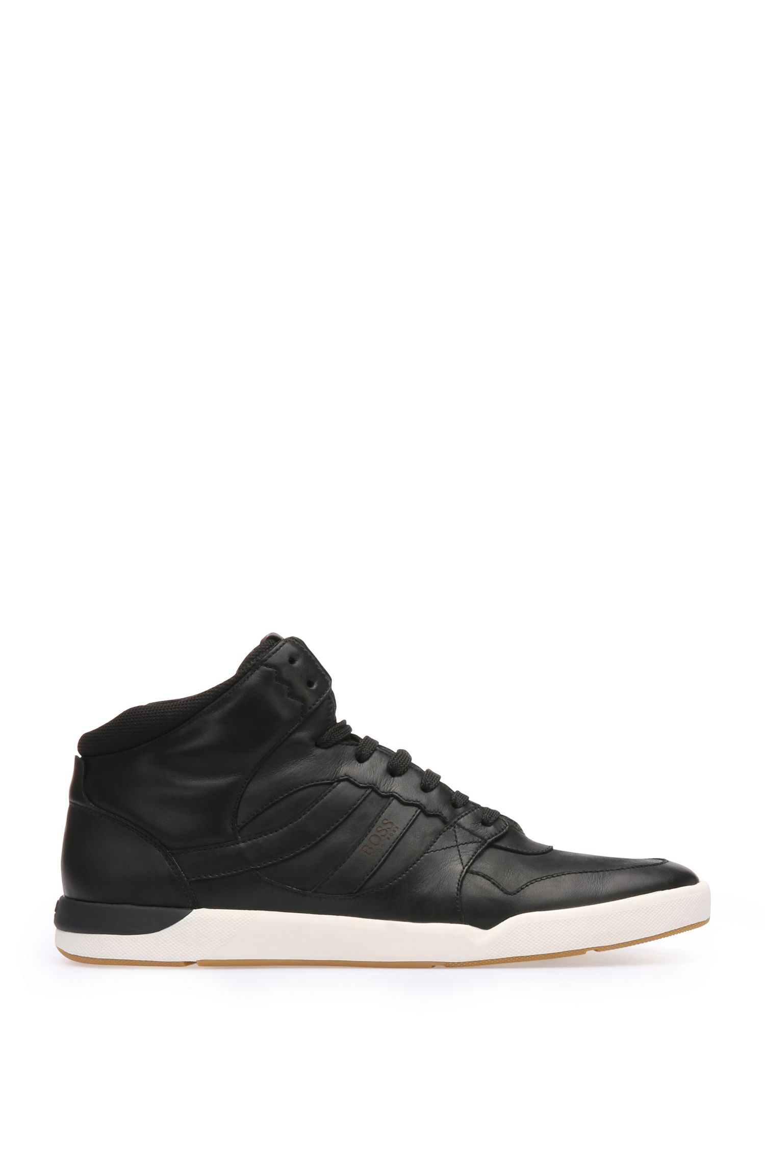High-top trainers in leather and textile: 'Stillnes_Hito_ltws'