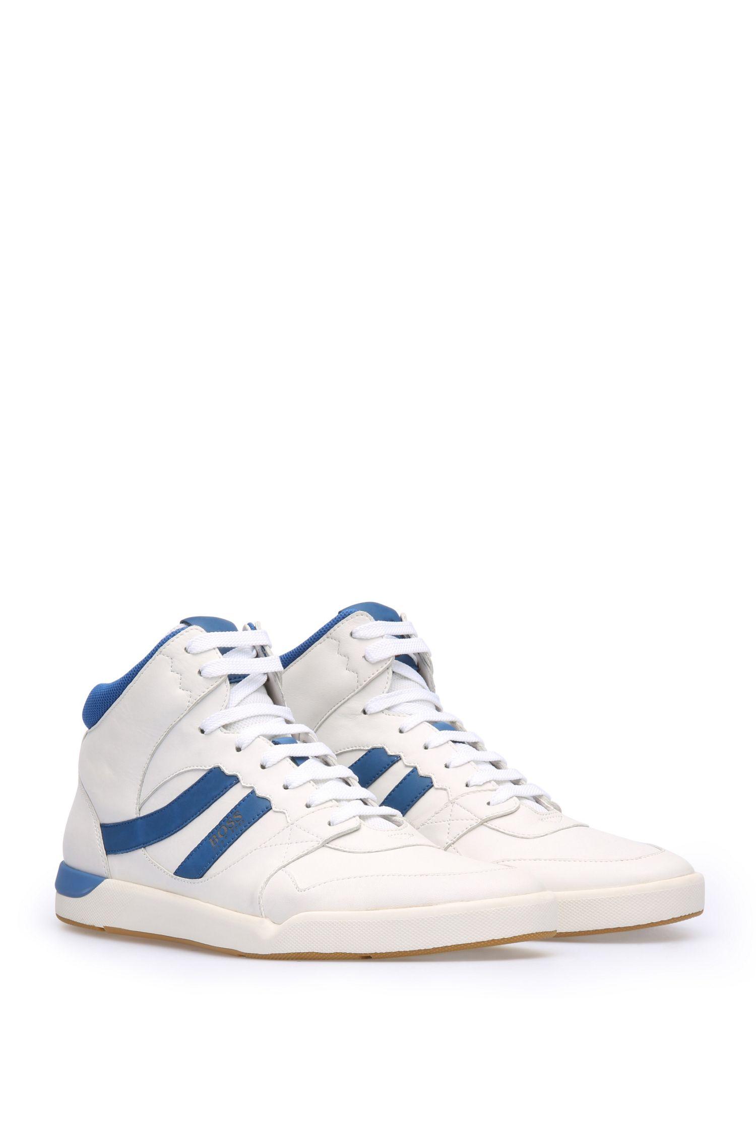 High Top Sneakers aus Leder und Textil: ´Stillnes_Hito_ltws`