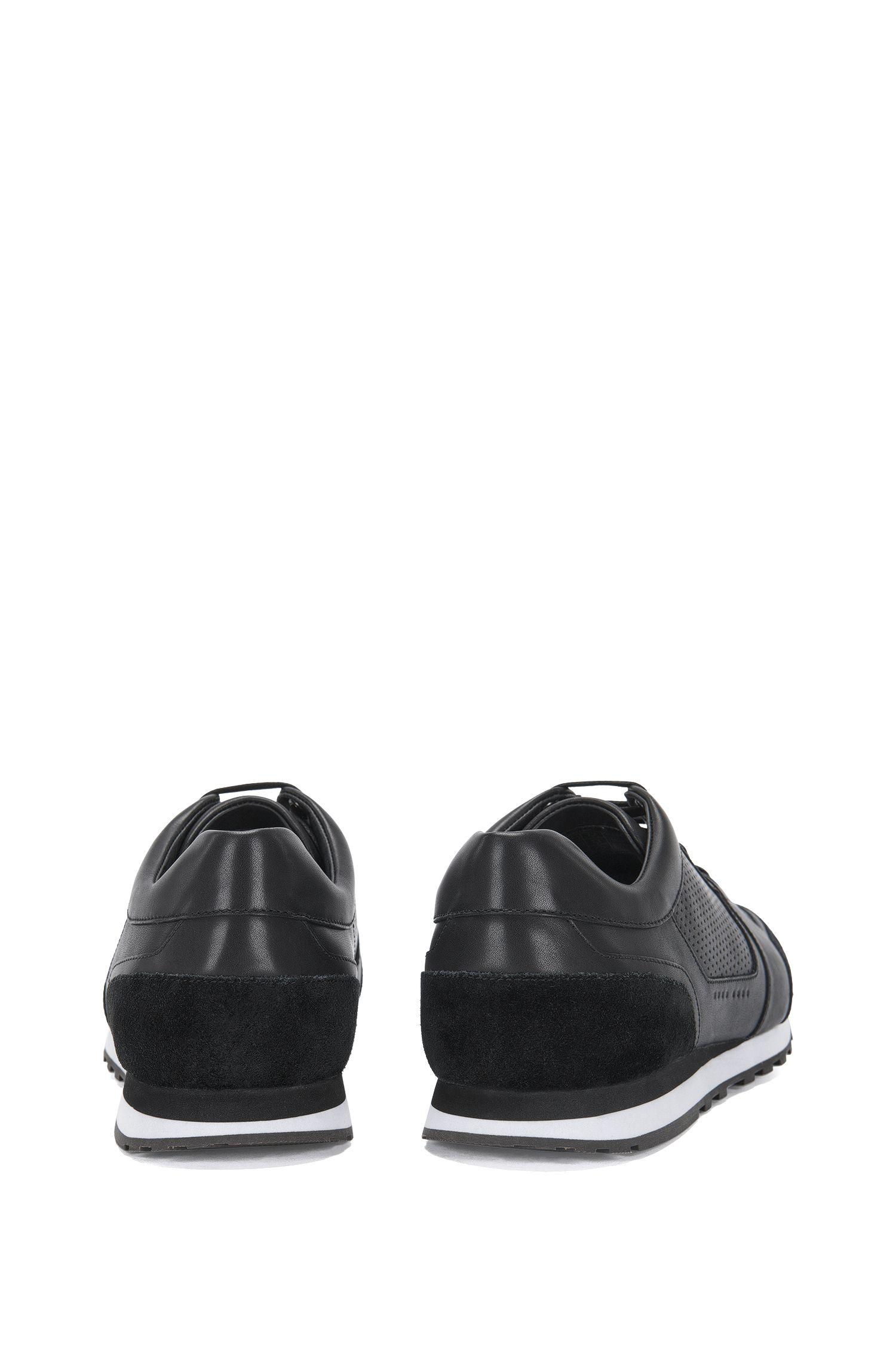 Sneakers aus Leder im Struktur-Mix: 'Breeze_Runn_ltpf'