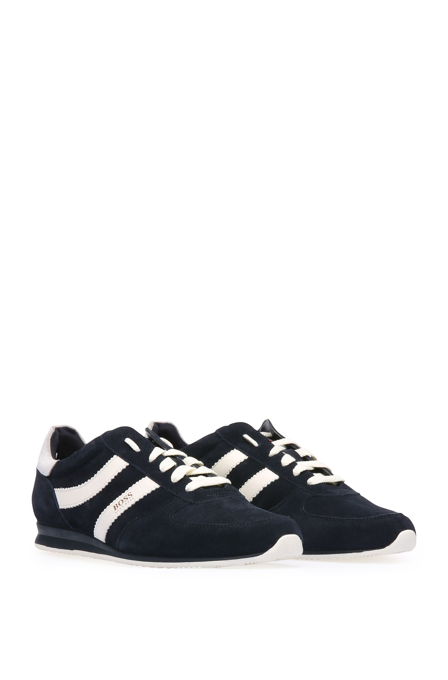 Lage sneakers van een materiaalmix met suède: 'Orland_Runn_sd'