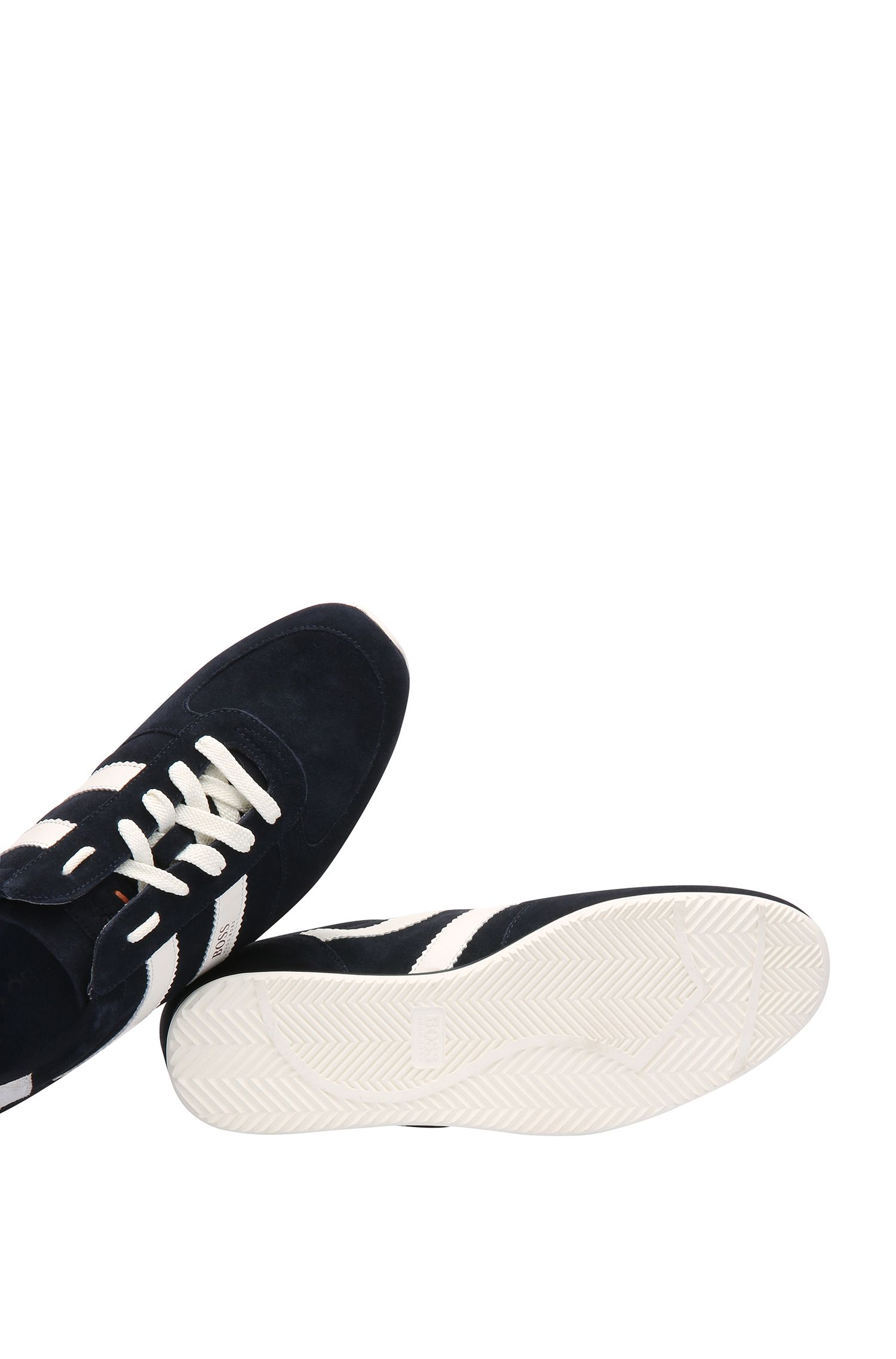 Low Top Sneakers aus Material-Mix mit Veloursleder: ´Orland_Runn_sd`