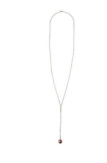 Filigrane Halskette mit Schmuckperle: ´Melana`, Braun