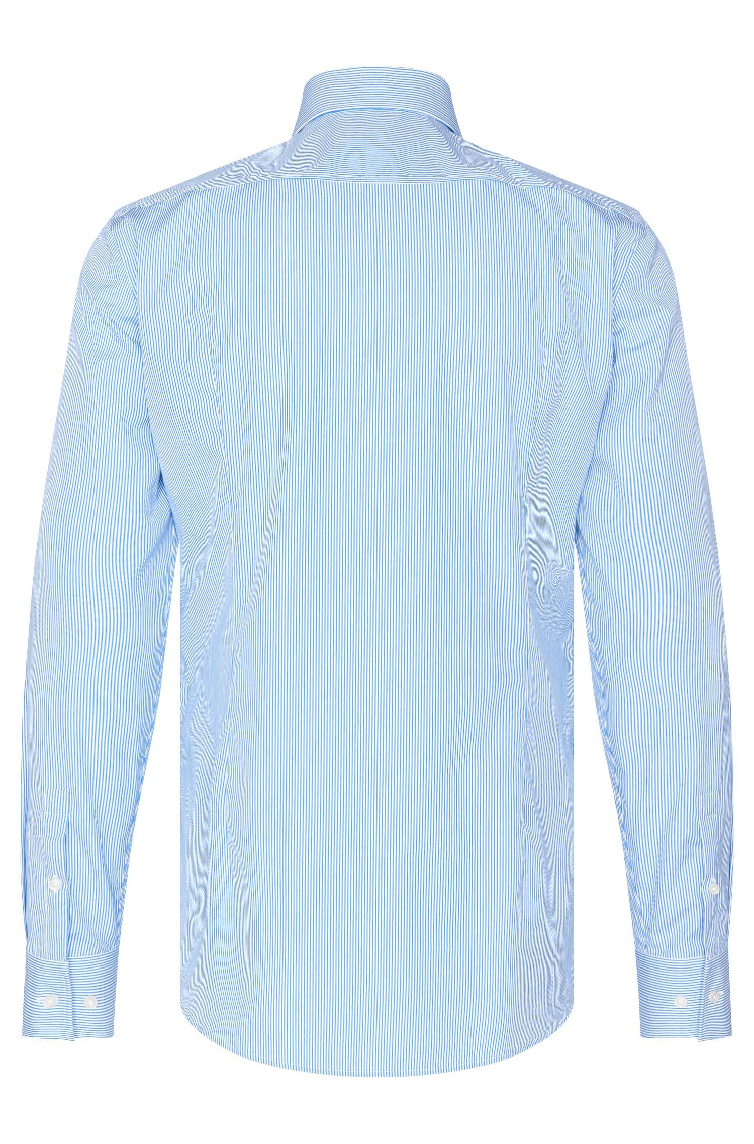 Chemise Slim Fit en coton à fines rayures: «Jason»
