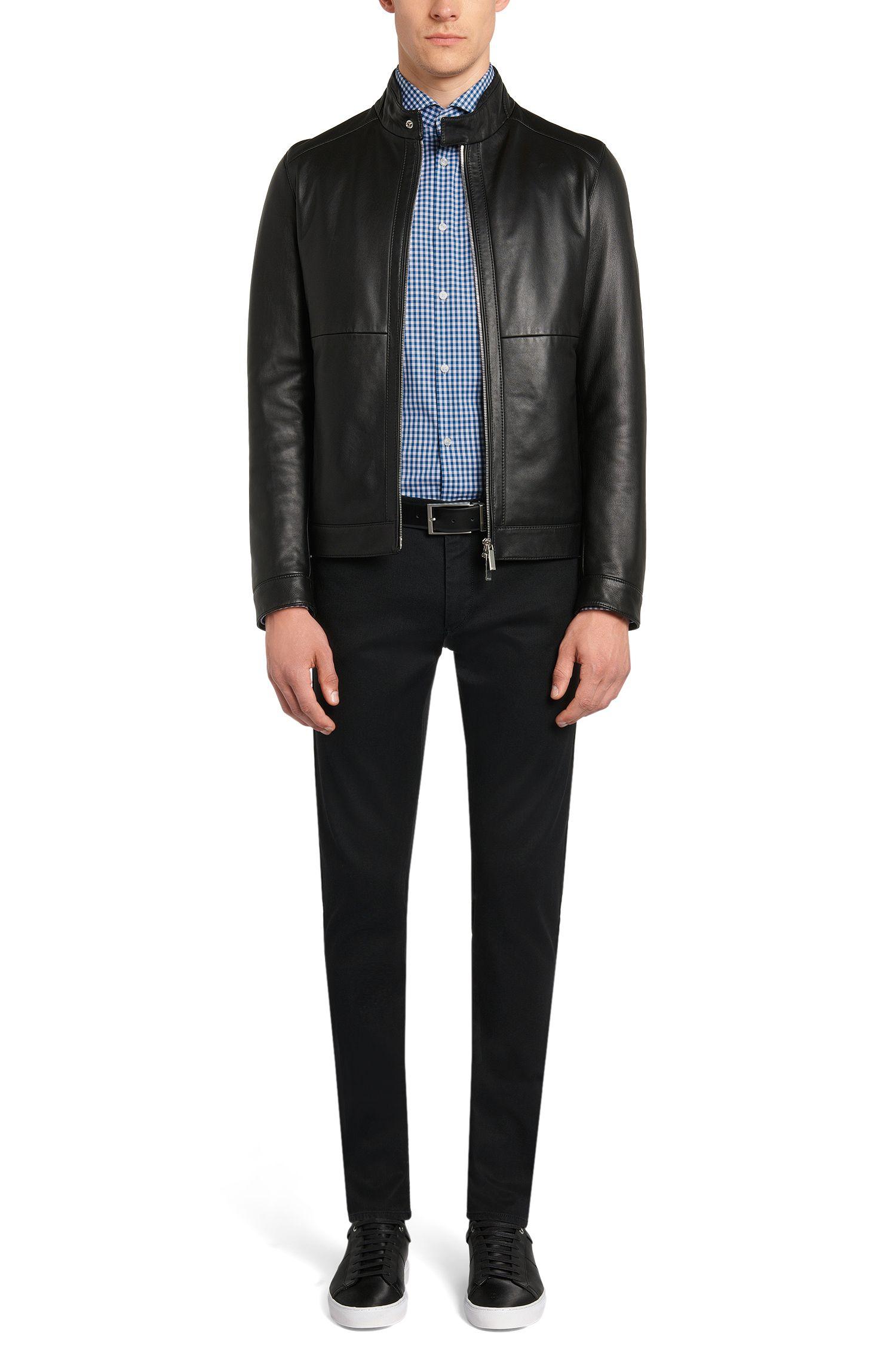 Kariertes Slim-Fit Hemd aus reiner Baumwolle: 'Jason'