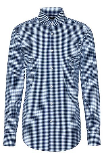 Kariertes Slim-Fit Hemd aus reiner Baumwolle: 'Jason', Türkis