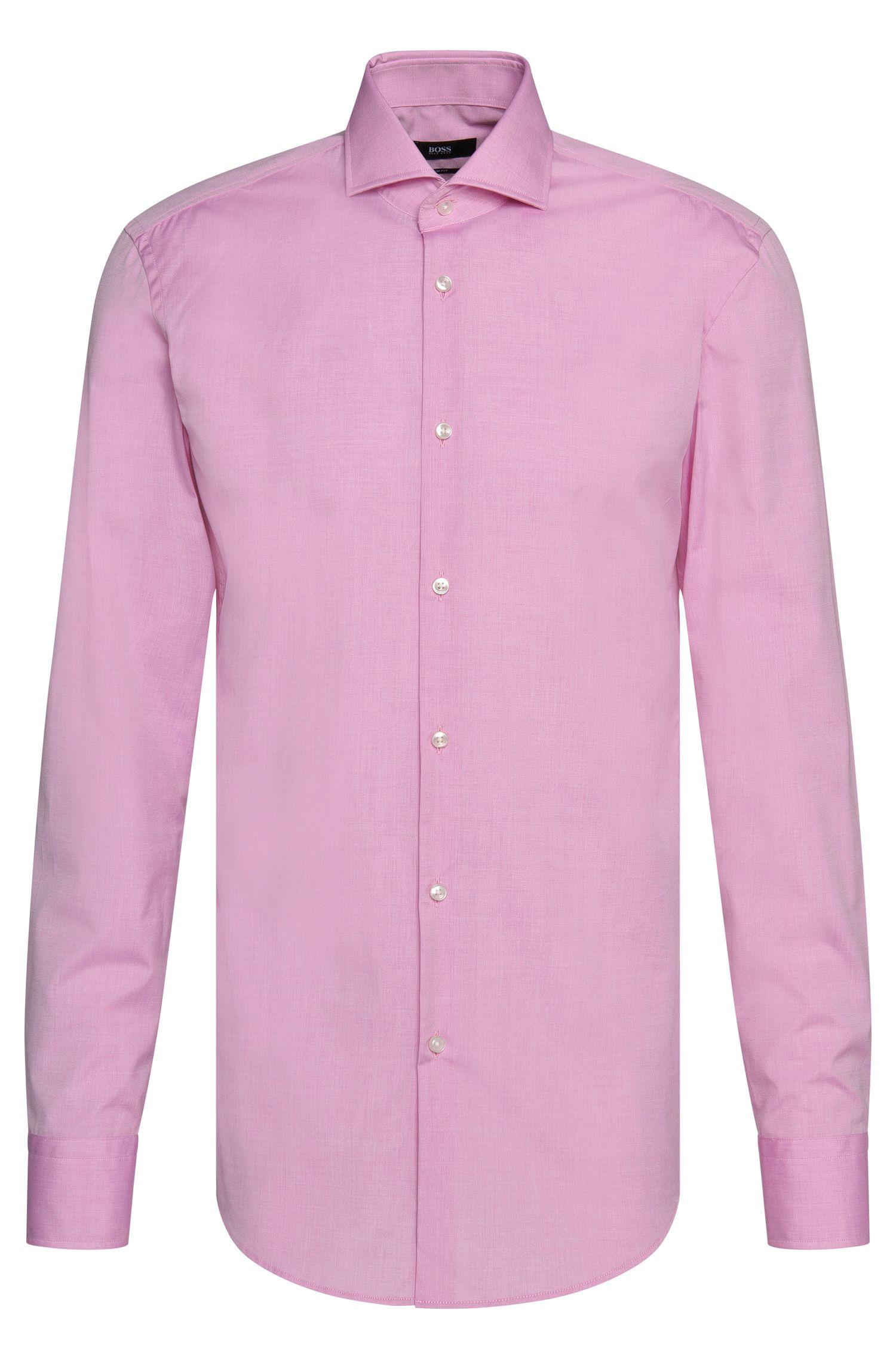 Chemise Slim Fit en coton facile à repasser: «Jason»