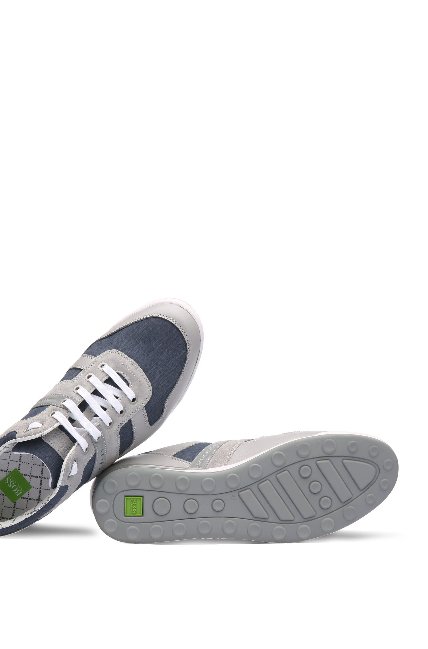 Sneakers aus Material-Mix mit Gewebe und Leder: ´Arkansas_Lowp_nych`