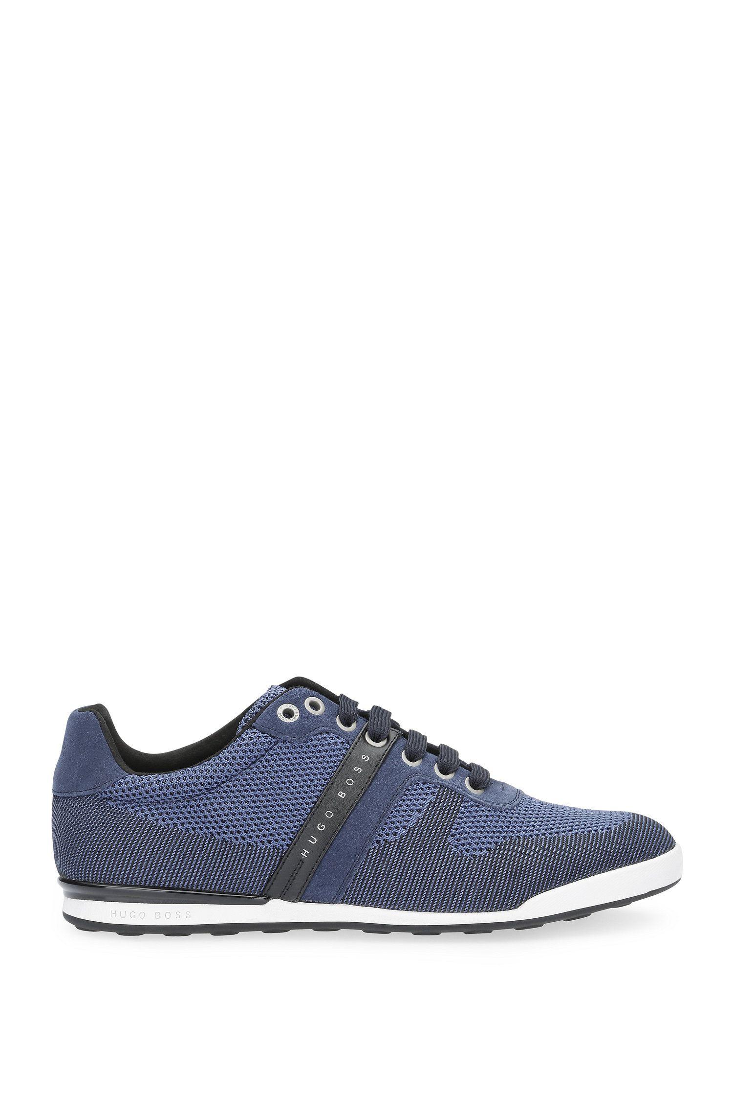 Low Top Sneakers aus Leder und Textil in Strick-Optik: ´Arkansas_Lowp_syjq`