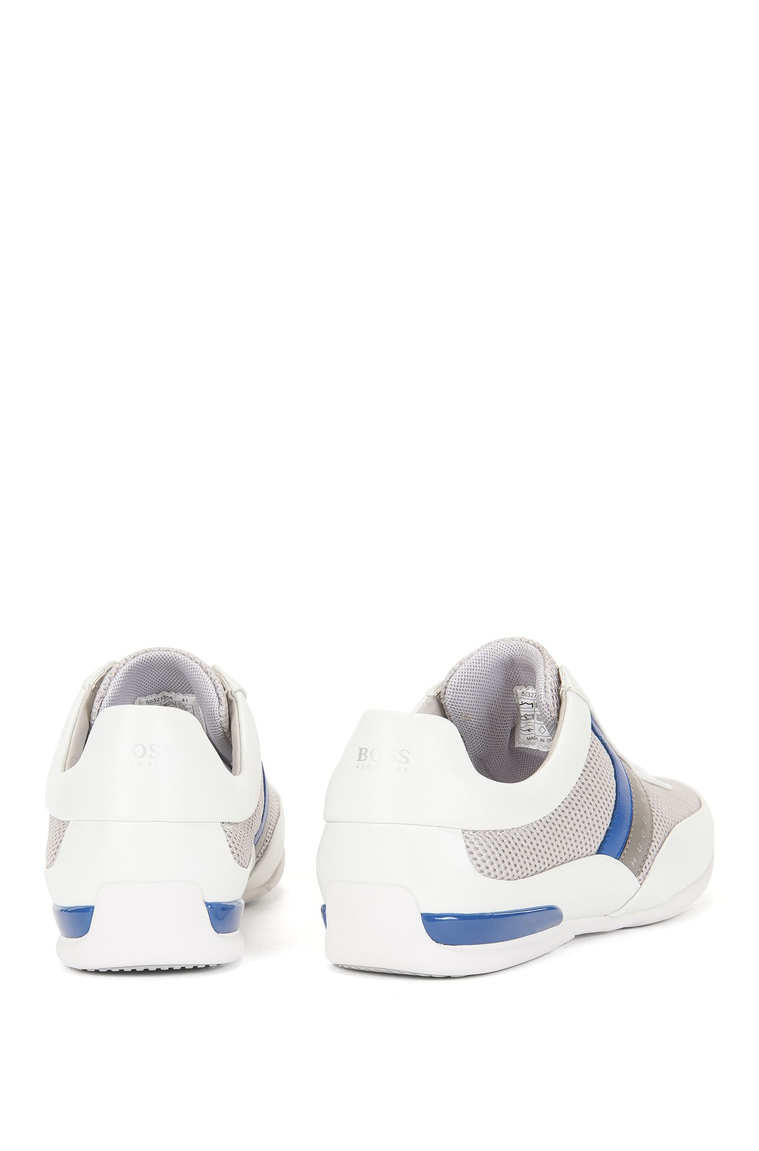 Low Top Sneakers aus Mesh und Leder: ´Space_Lowp_syme`