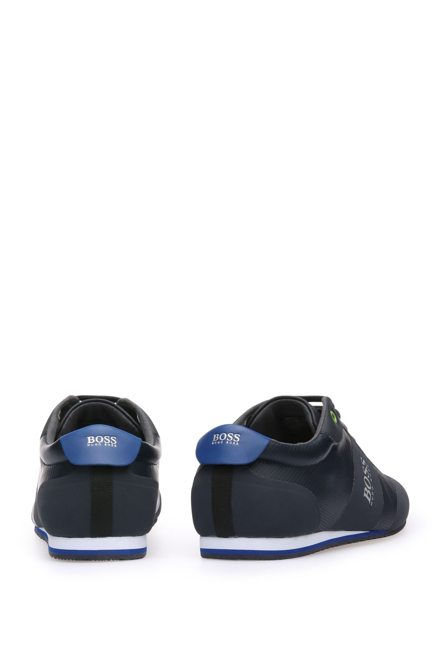 Sneakers aus Material-Mix mit beschichtetem Mesh und Leder: ´Lighter_Lowp_syc`