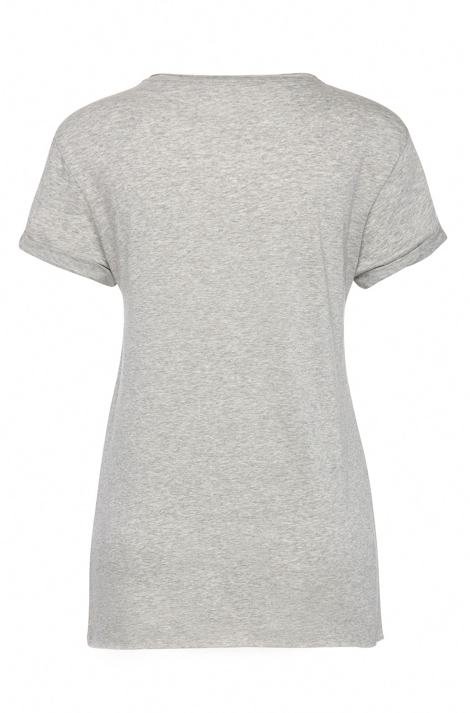 Gedecoreerd regular-fit shirt van een materiaalmix met katoen: 'Tamiasa'