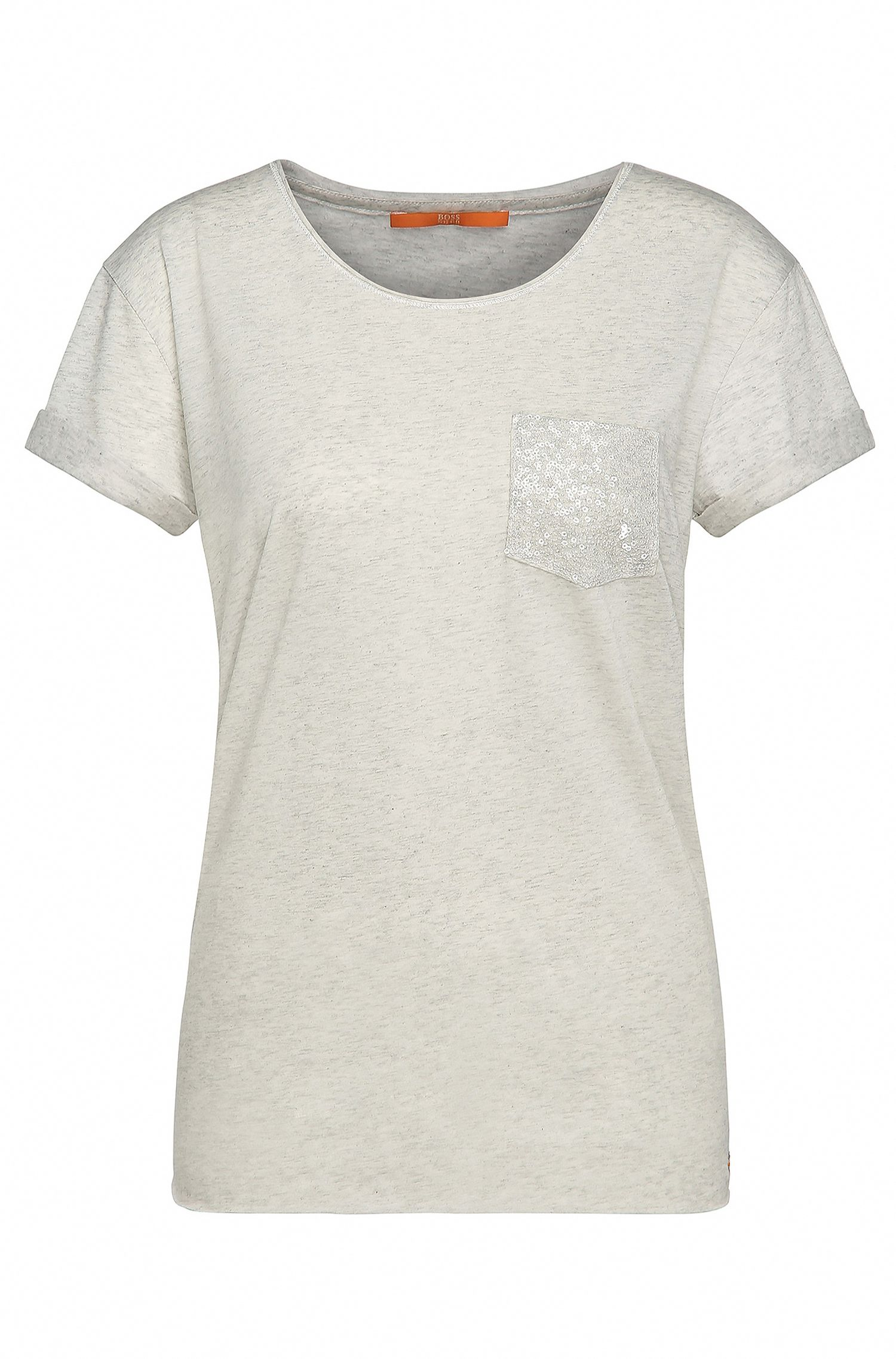 Decorated regular-fit shirt in fabric blend with cotton: 'Tamiasa'