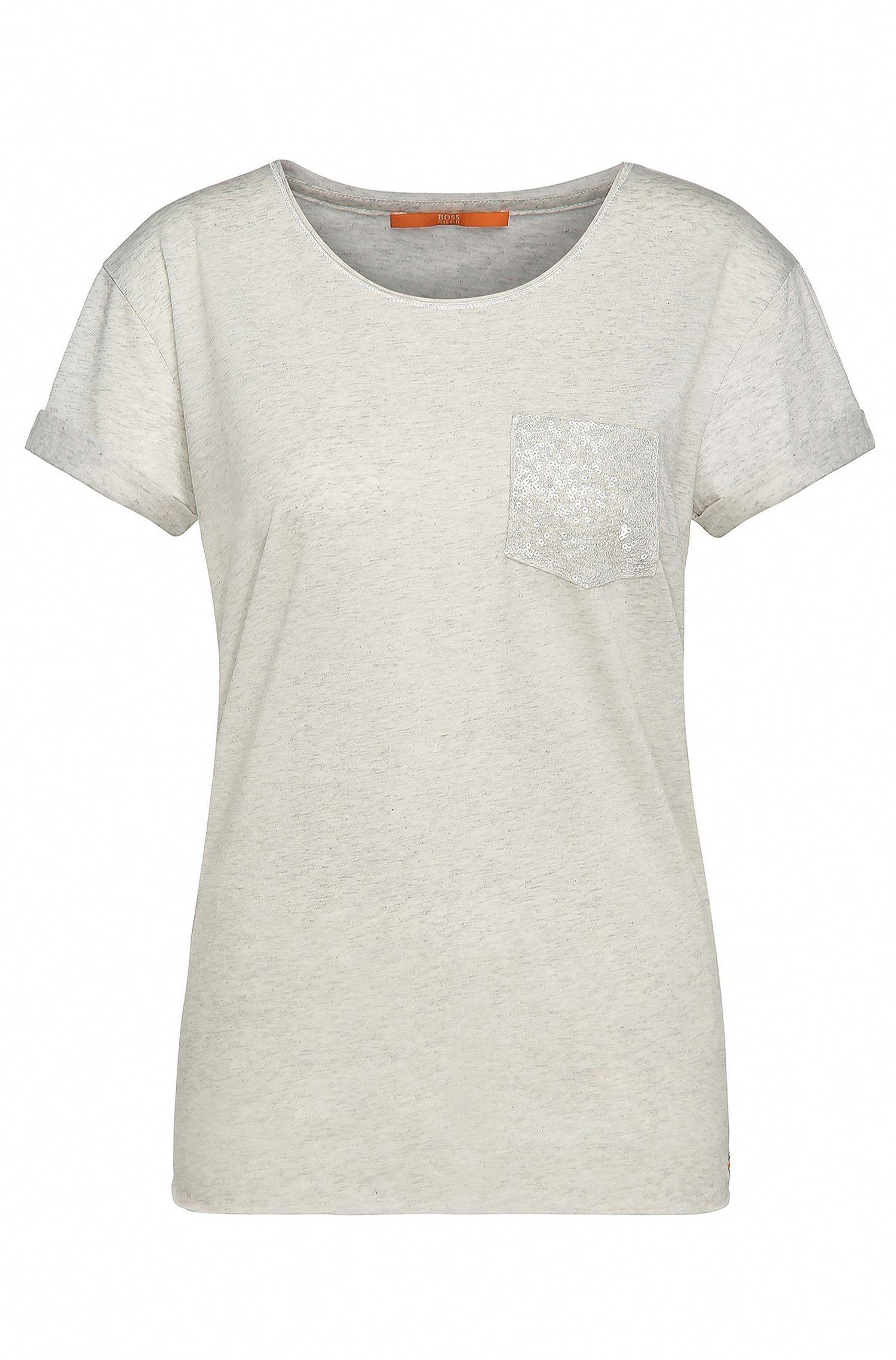 Maglietta regular fit decorata in materiali misti con cotone: 'Tamiasa'