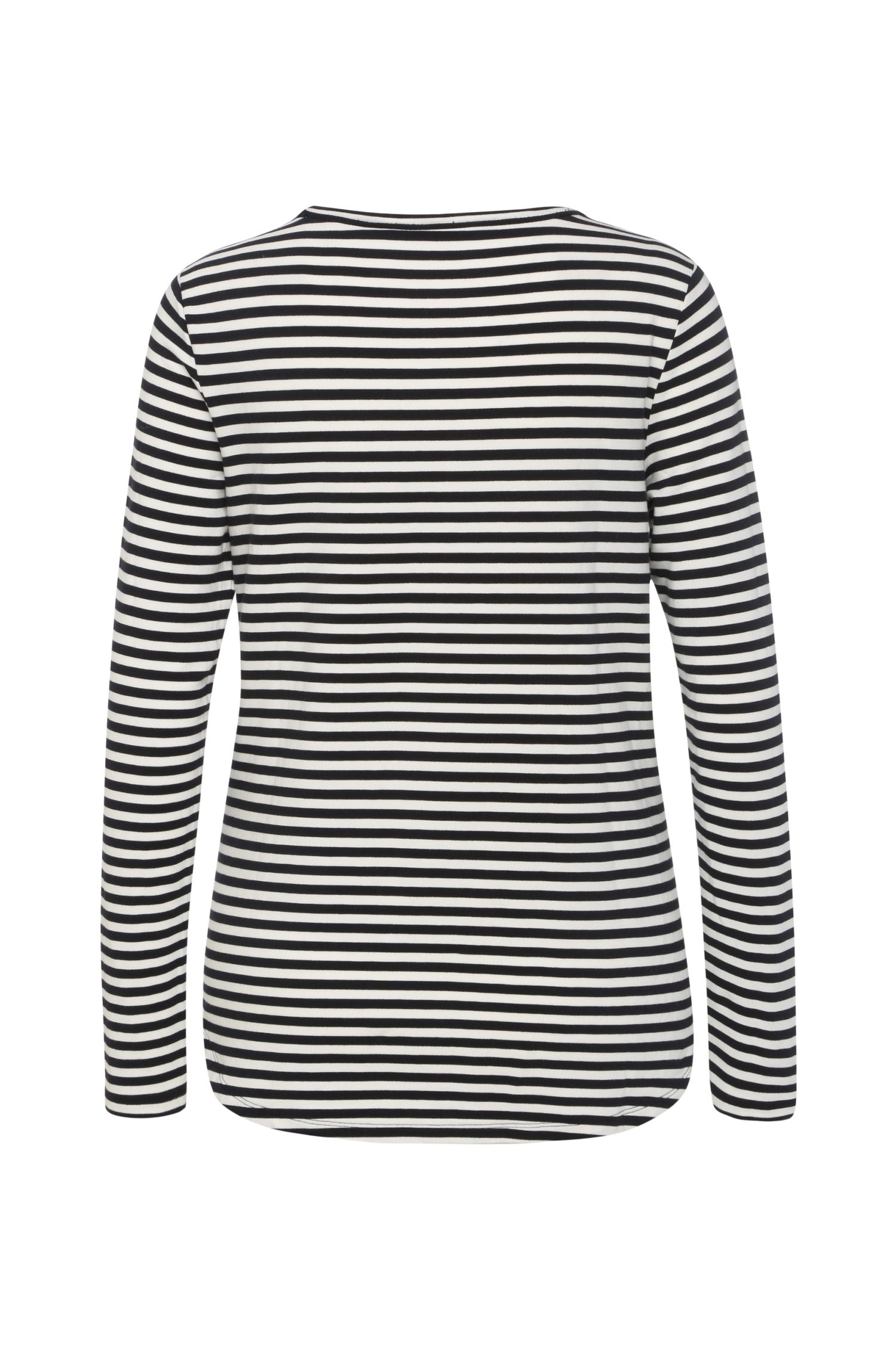 Slim-Fit Sweatshirt aus elastischem Viskose-Mix mit Baumwolle: ´Terstripe`