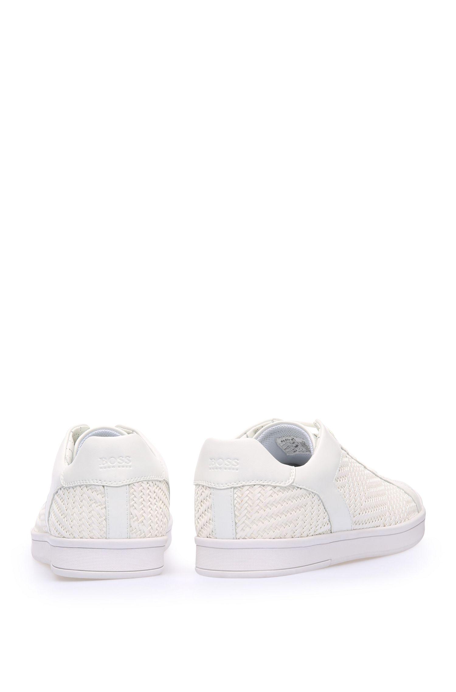 Sneakers van een materiaalmix met textiel en leer: 'RayAdv_Tenn_ltwv'