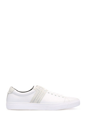 Low Top Sneakers aus Leder-Mix: ´Enlight_Tenn_lt`, Weiß