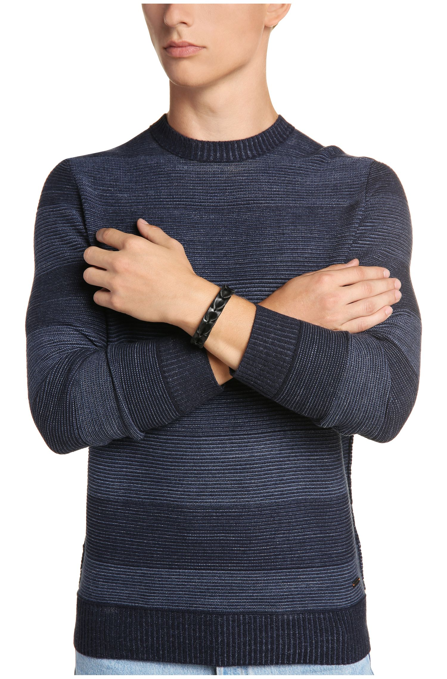 Leder-Armband in Flecht-Optik: ´Maddox`