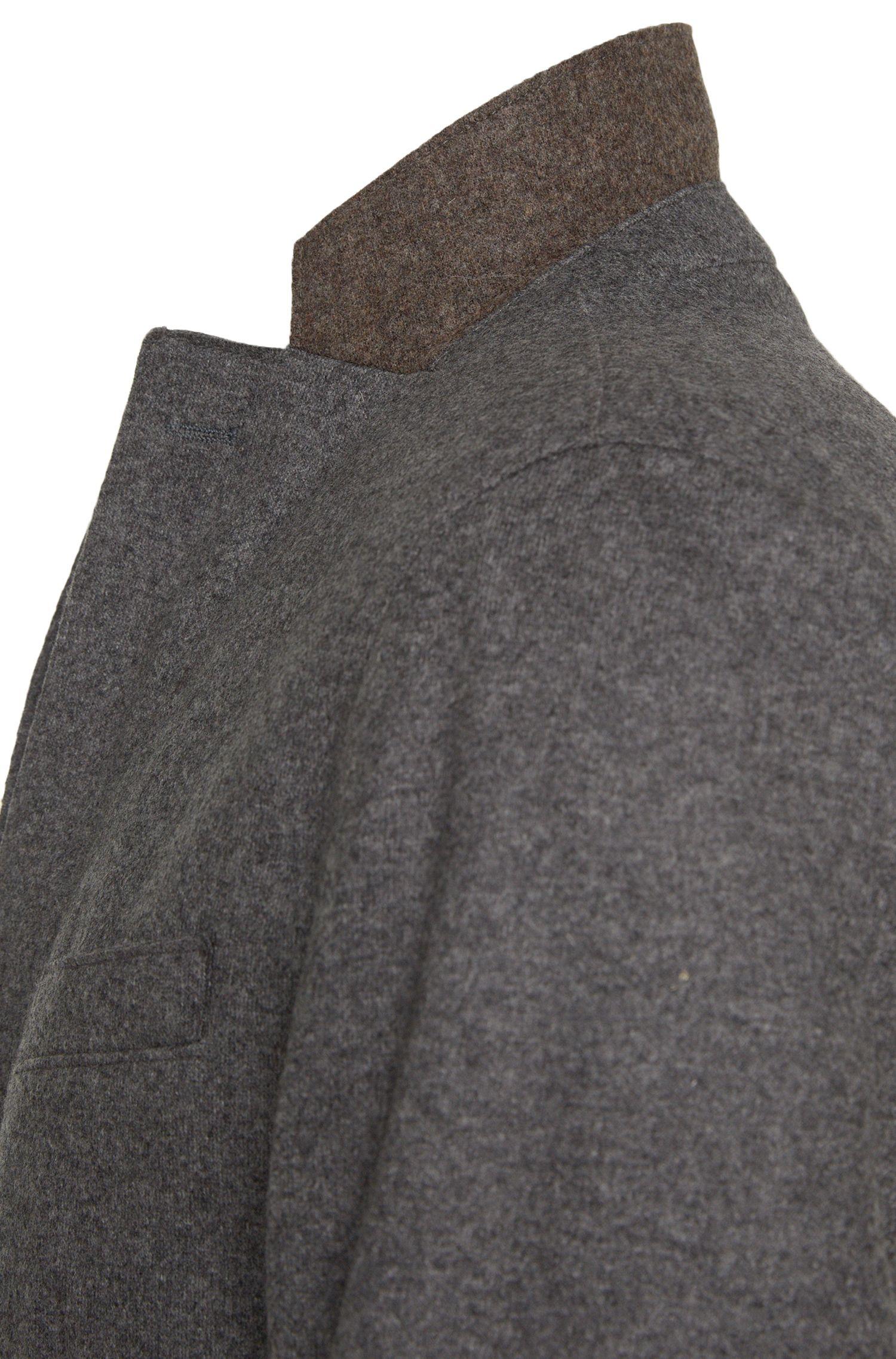 Slim-fit colbert van zuivere scheerwol met open randen: 'Nordin'