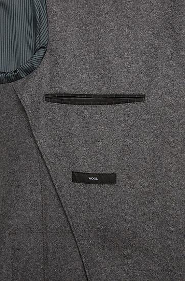 Slim-Fit Sakko aus reiner Schurwolle mit offenen Kanten: 'Nordin', Grau