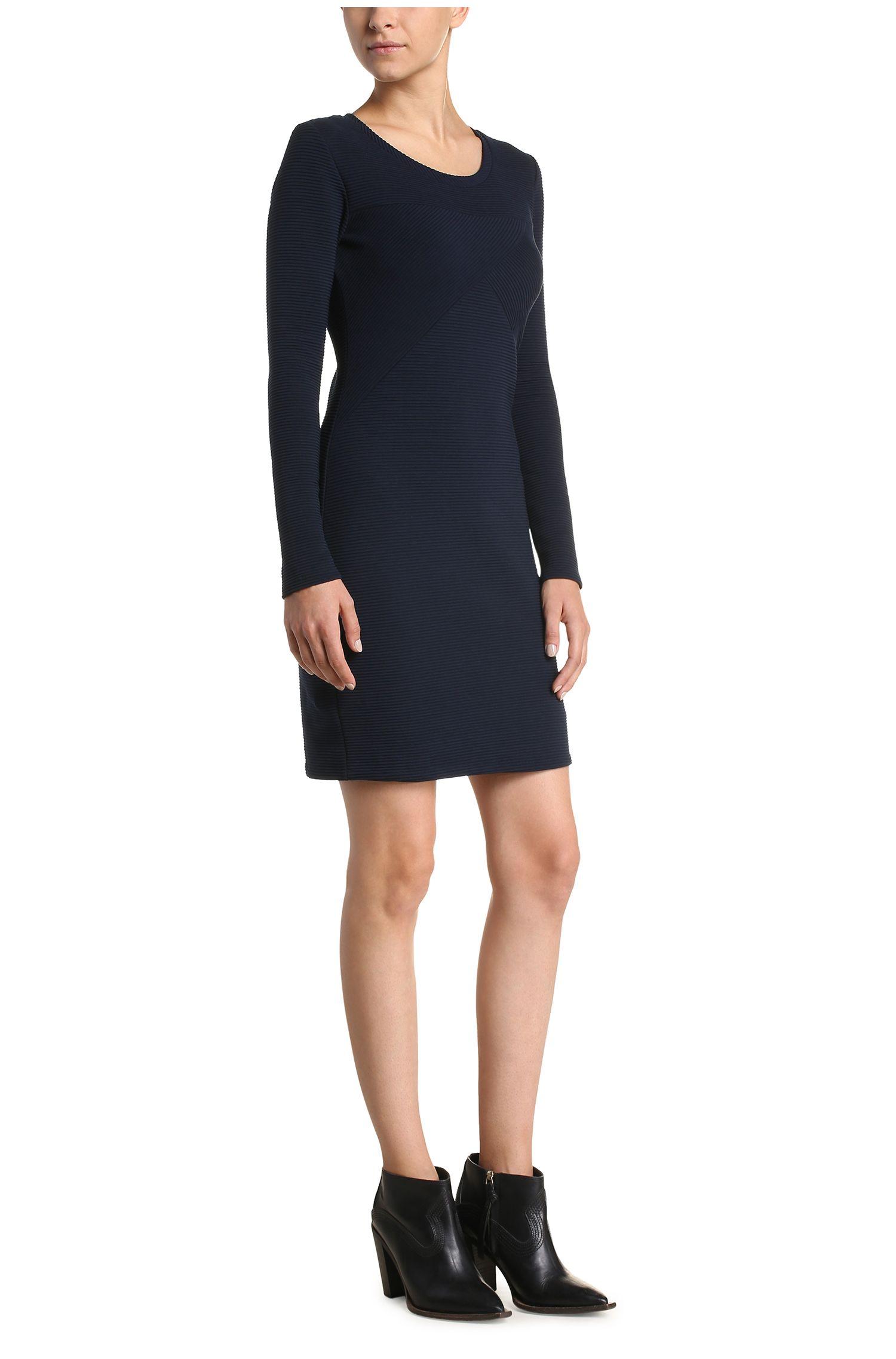 Gestructureerde slim-fit jurk van een elastische katoenmix: 'Derbody'