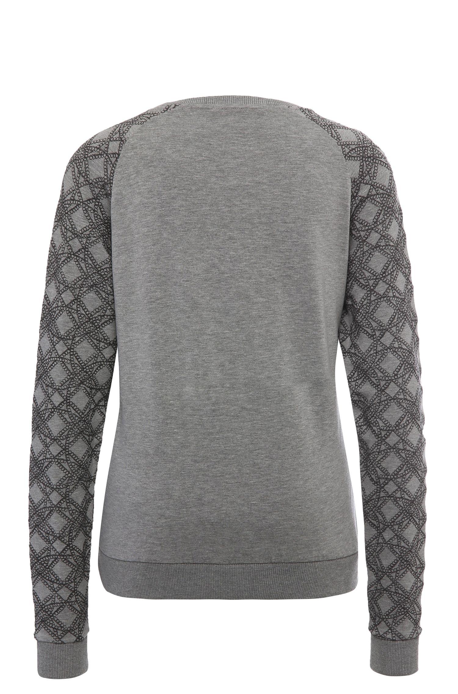 Regular-Fit Print-Sweatshirt aus elastischem Viskose-Mix mit Baumwolle: ´Ticonica`