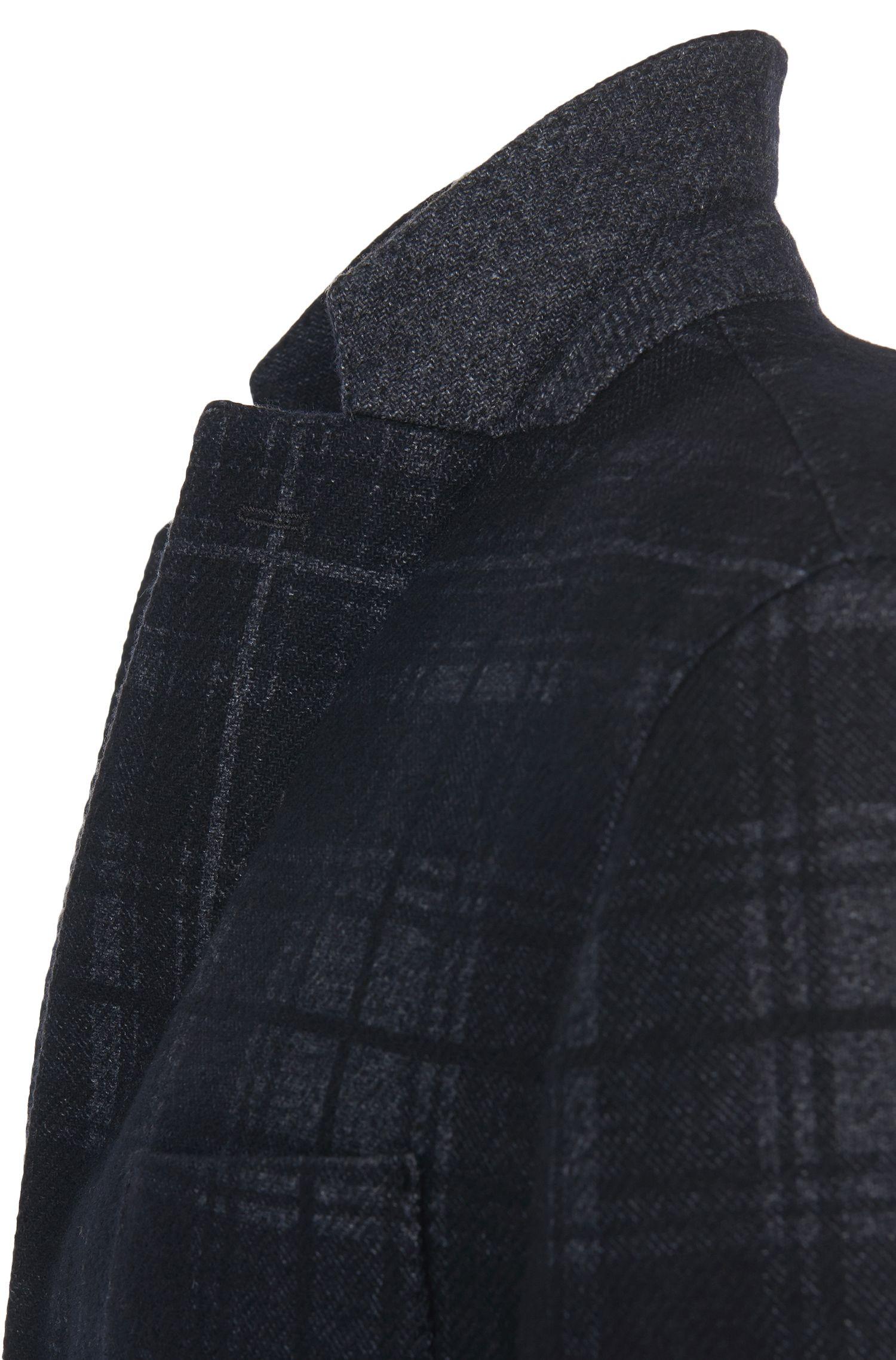 Veste de costume Slim Fit en laine vierge mélangée à carreaux: «Nolius-D»