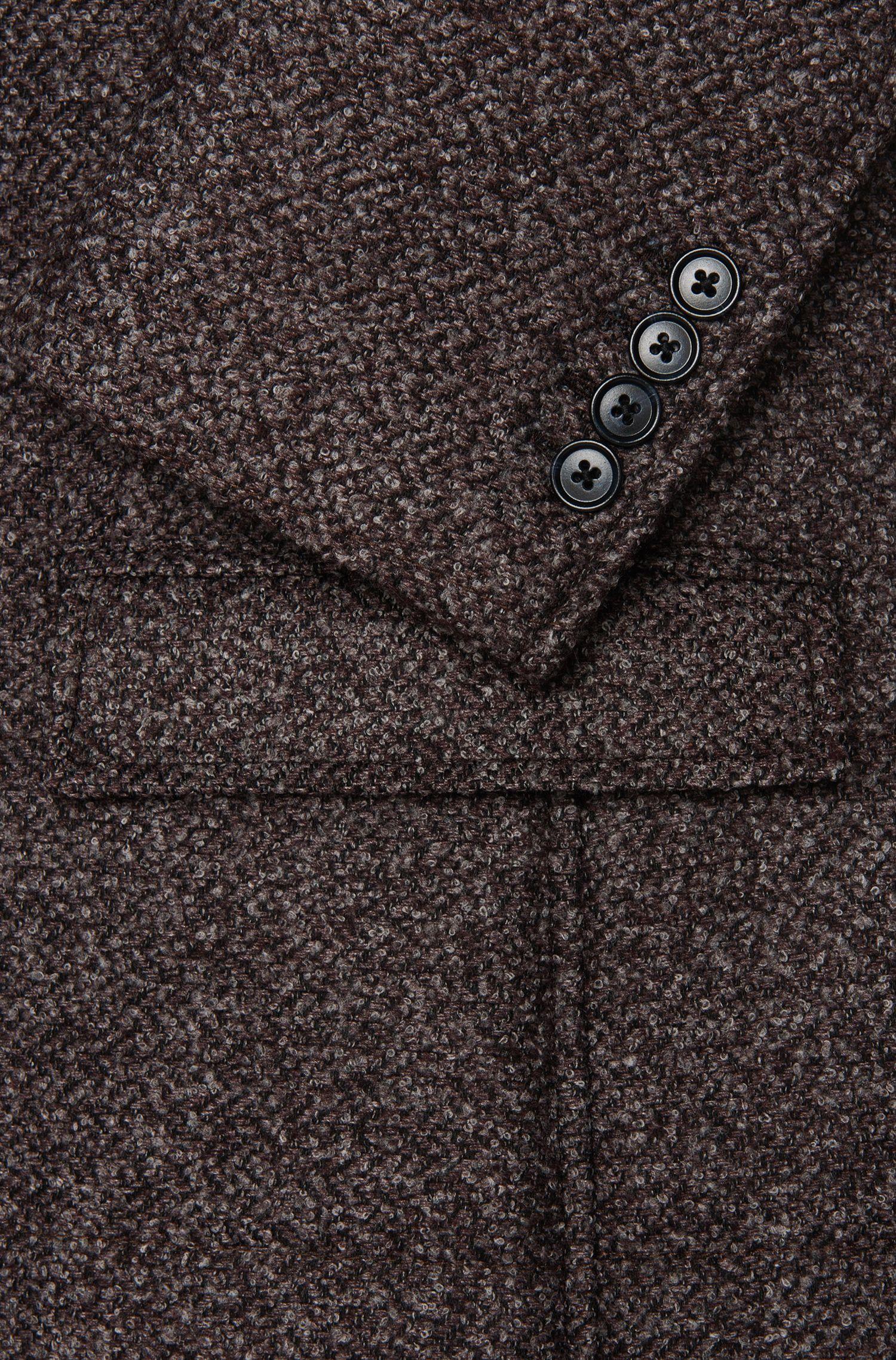 Veste de costume Slim Fit Tailored en laine mélangée à la finition bouclette: «T-Niklaas»