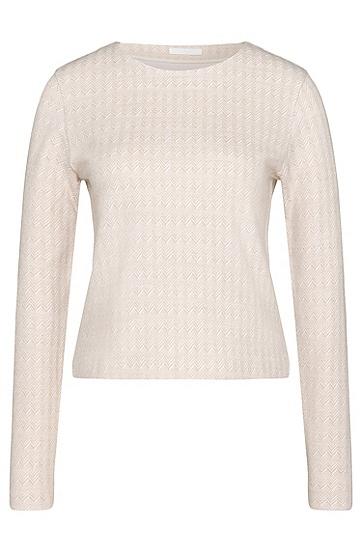 Sweatshirt aus Baumwoll-Mix mit Fischgrät-Muster: 'Enie', Gemustert