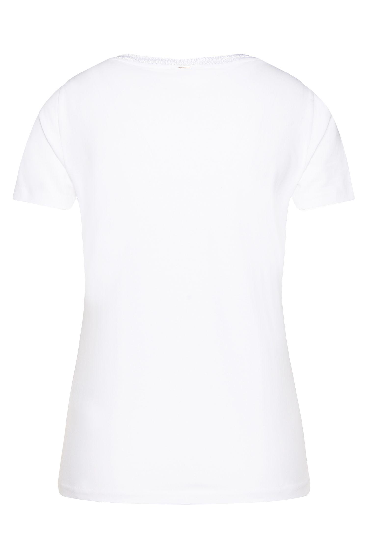 Getailleerd T-shirt van elastische katoen: 'Estana'
