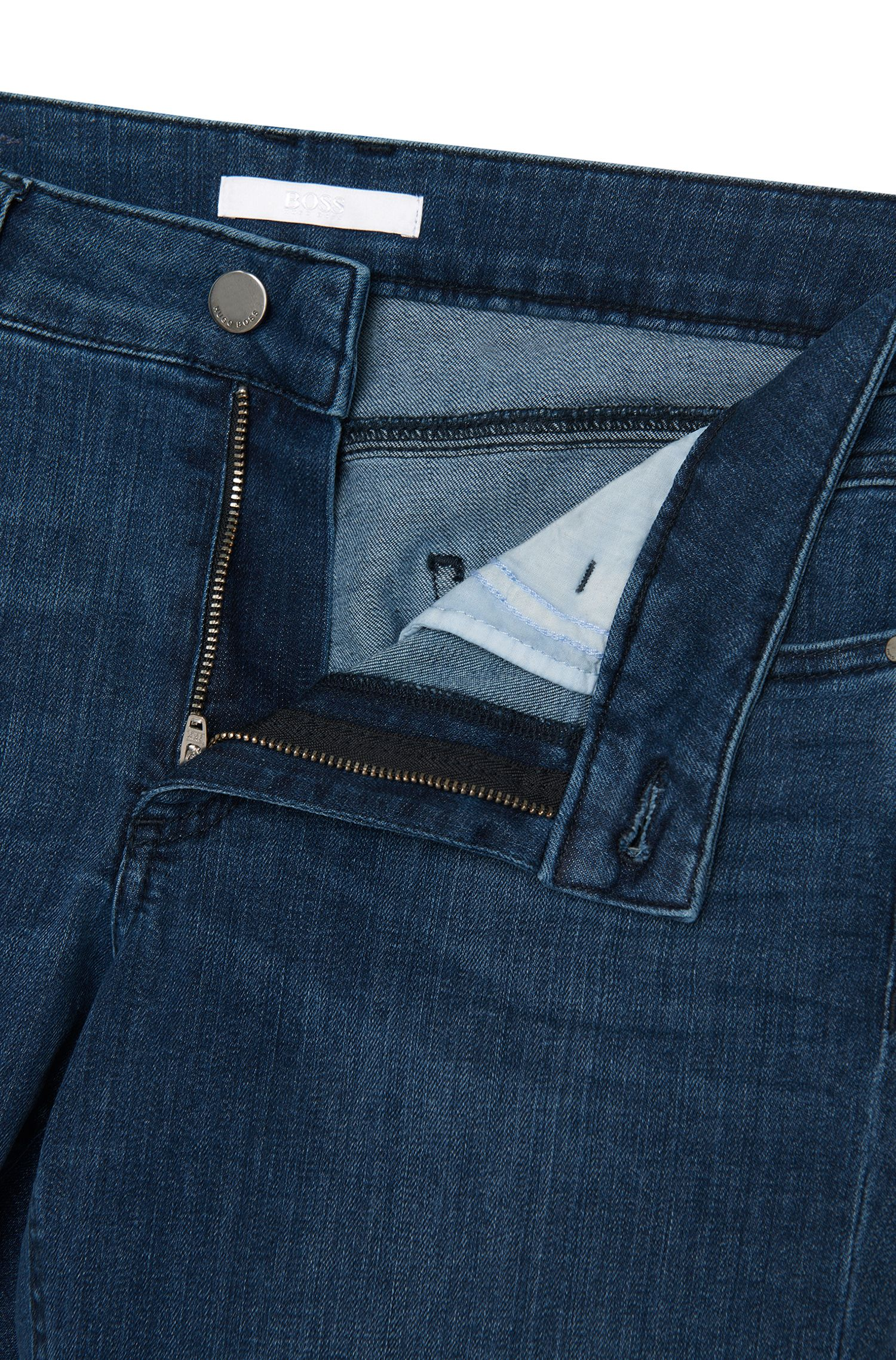 Regular-Fit Jeans aus elastischem Baumwoll-Mix in Cropped-Länge: 'Nelin'