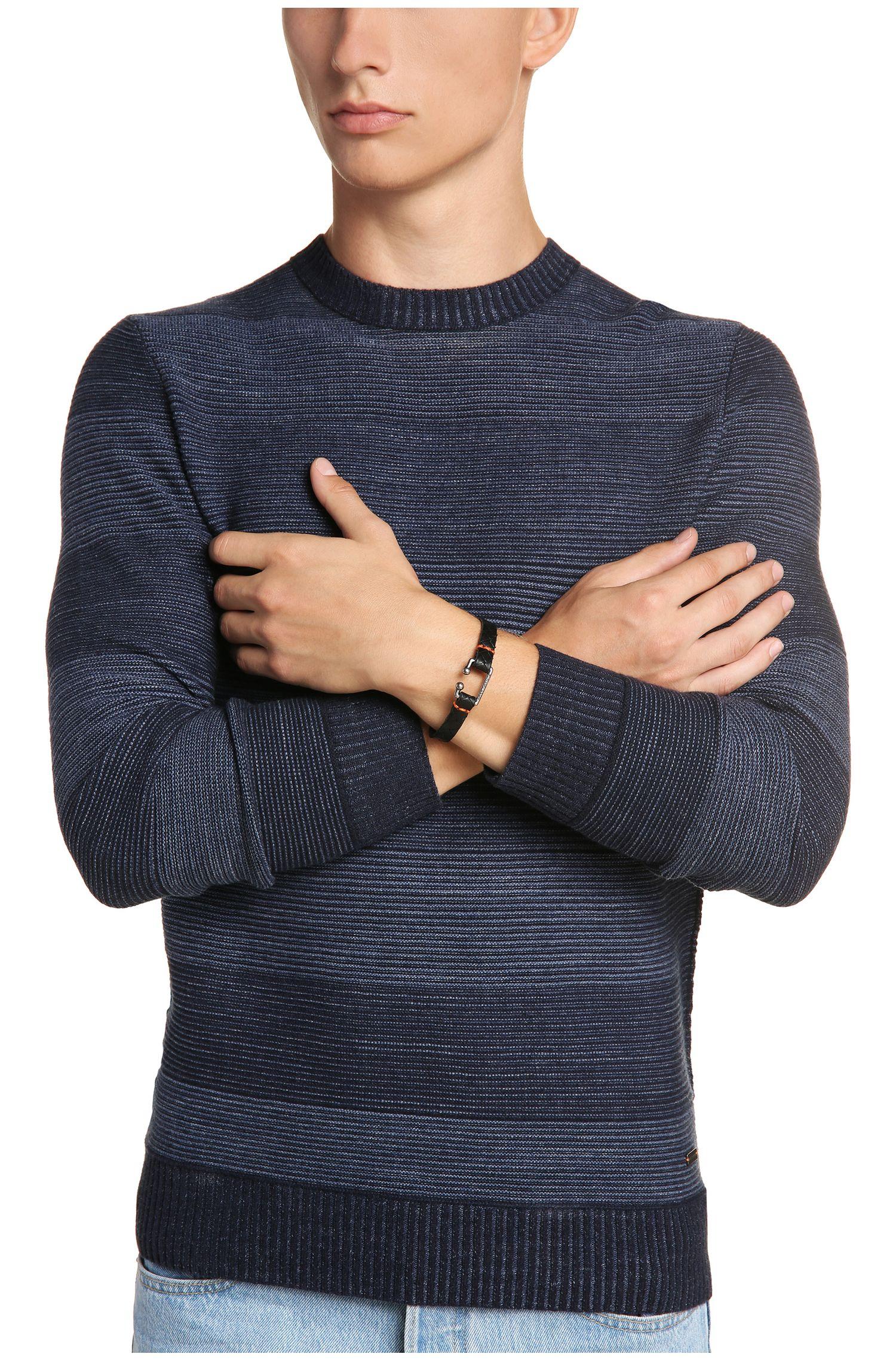 Armband van leer in vintagelook: 'Morris2'
