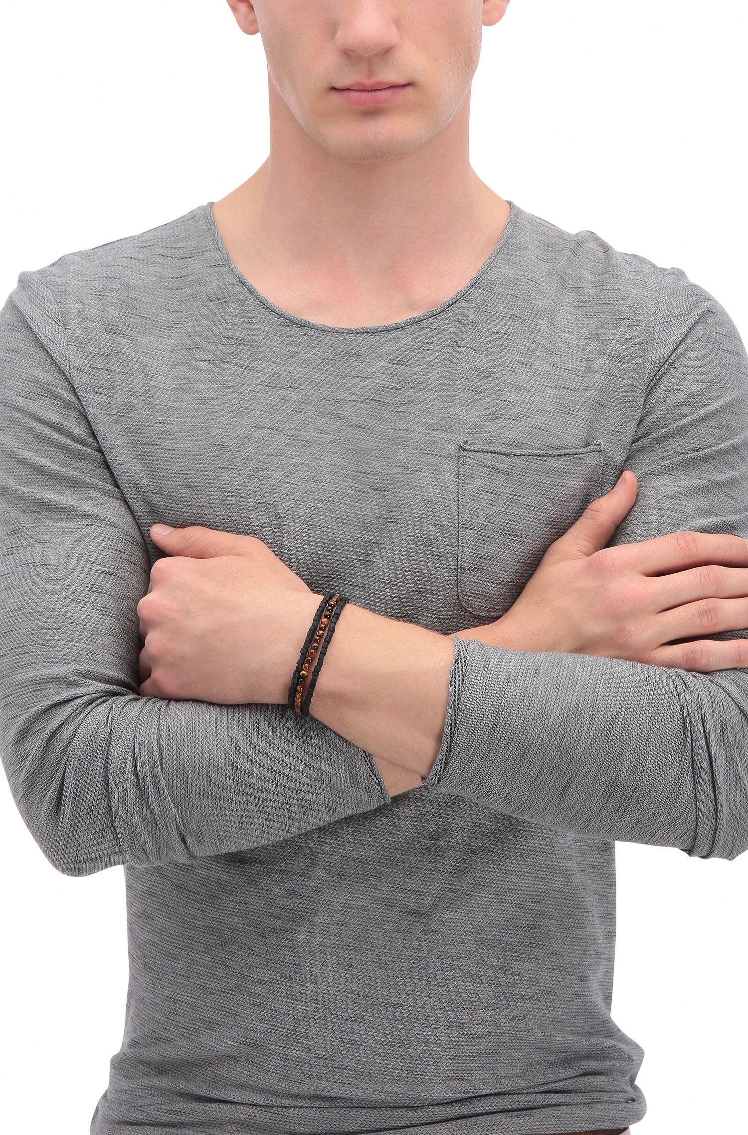Armband aus Schmucksteinen und Katzenaugen-Perlen: ´Murry2`