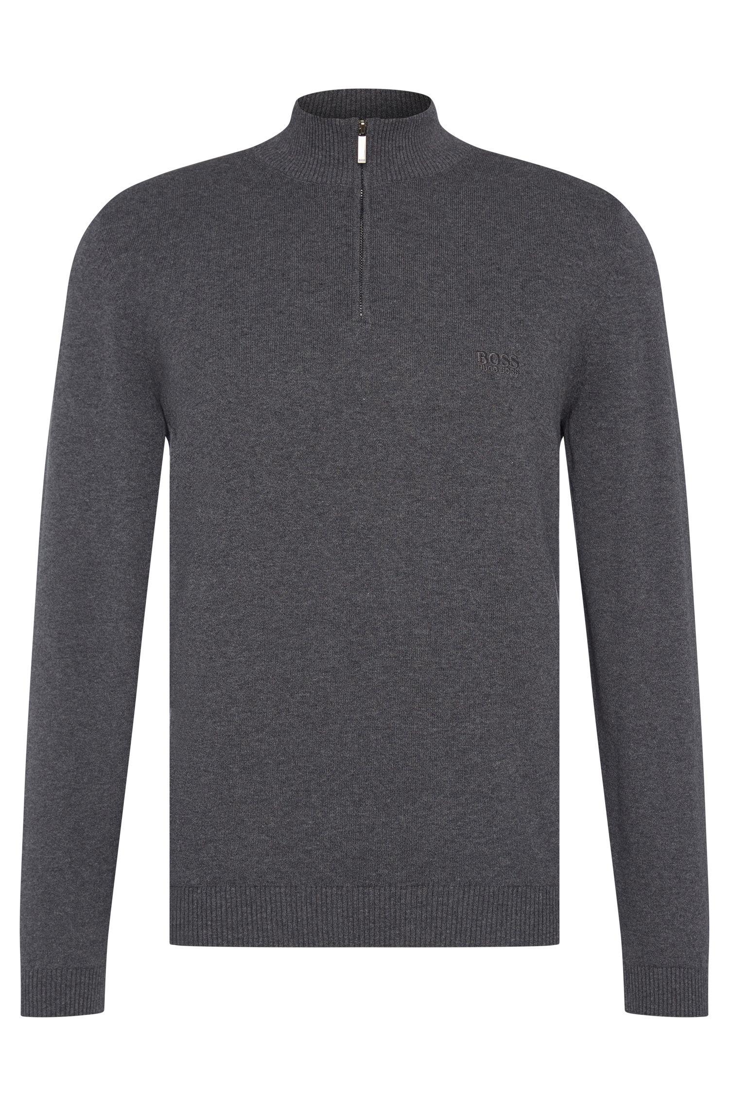 Regular-Fit Pullover aus Baumwolle mit Stehkragen: 'Igor'