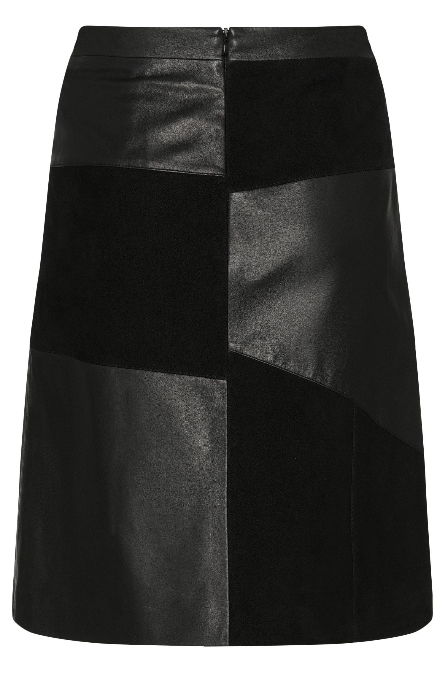 Lederrock im Patchwork-Design: 'Linnja'