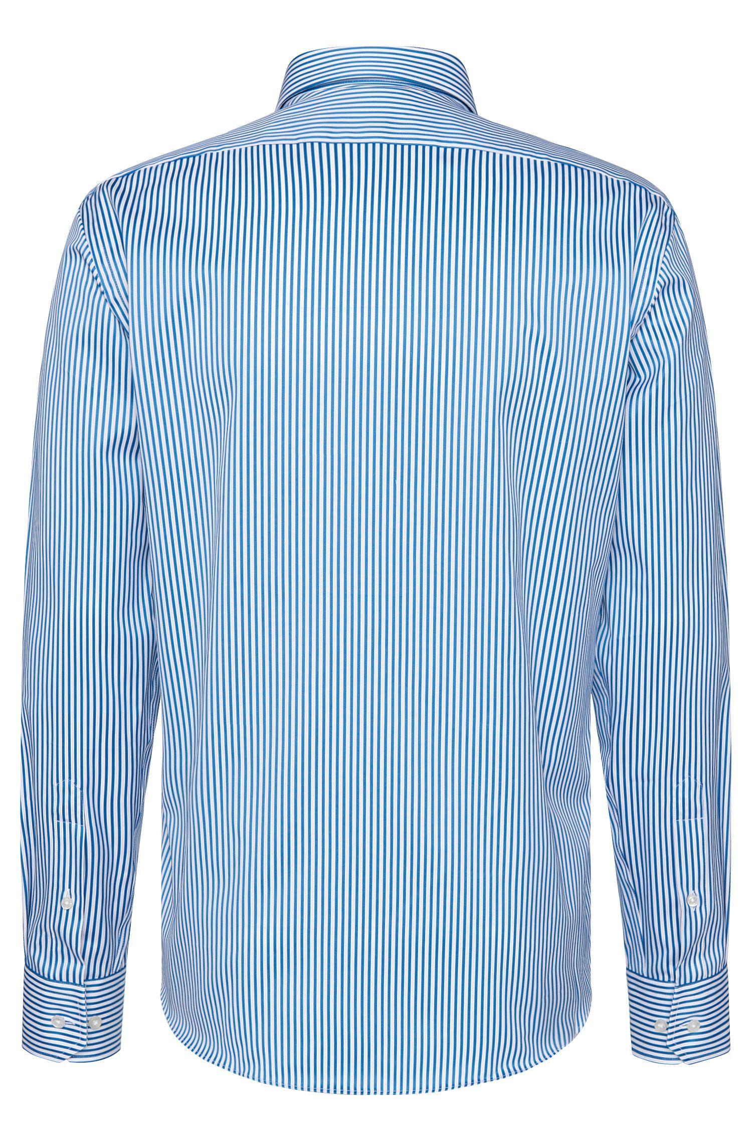 Gestreept regular-fit overhemd van katoen: 'Enzo'
