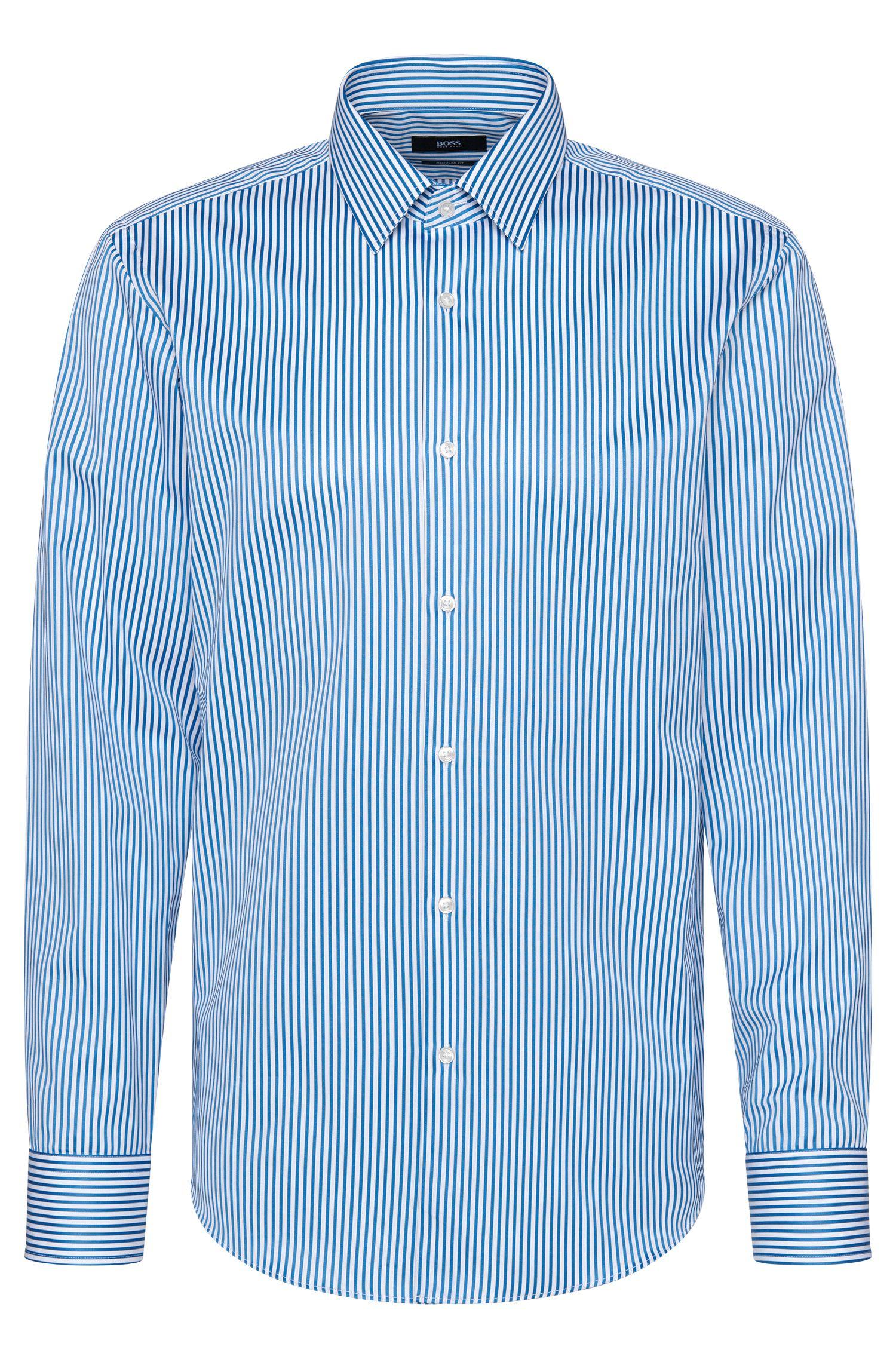Camicia a righe regular fit in cotone: 'Enzo'
